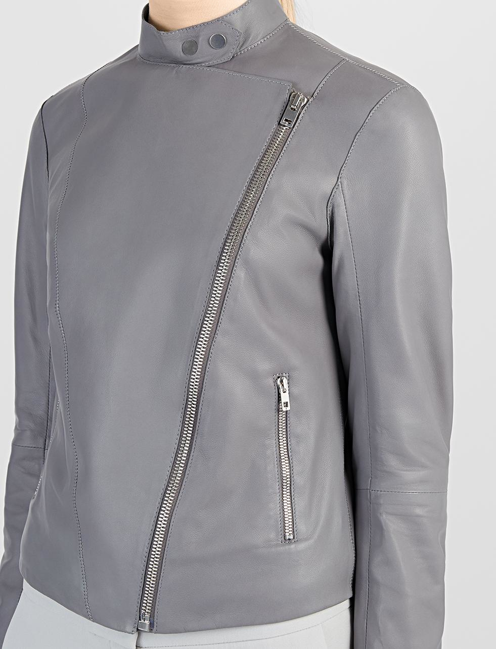 305e54c4d JOSEPH Nappa Leather New Alpha Jacket in Gray - Lyst