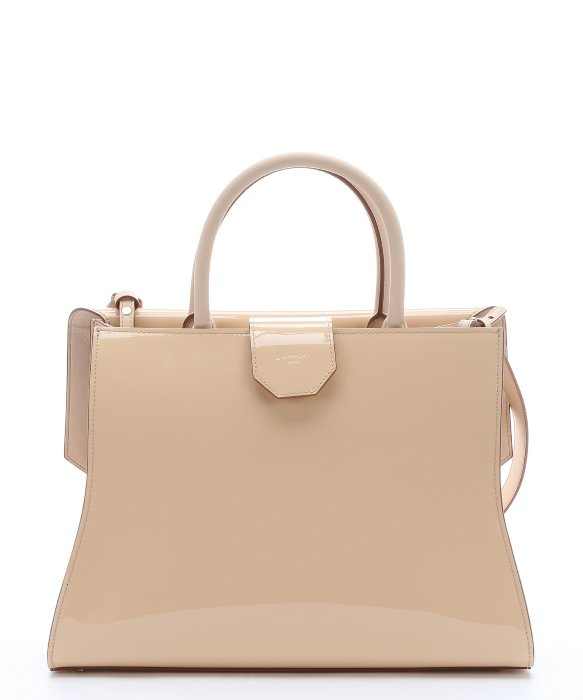 Givenchy Light Beige Patent Leather Large \u0026#39;Obsedia\u0026#39; Convertible ...