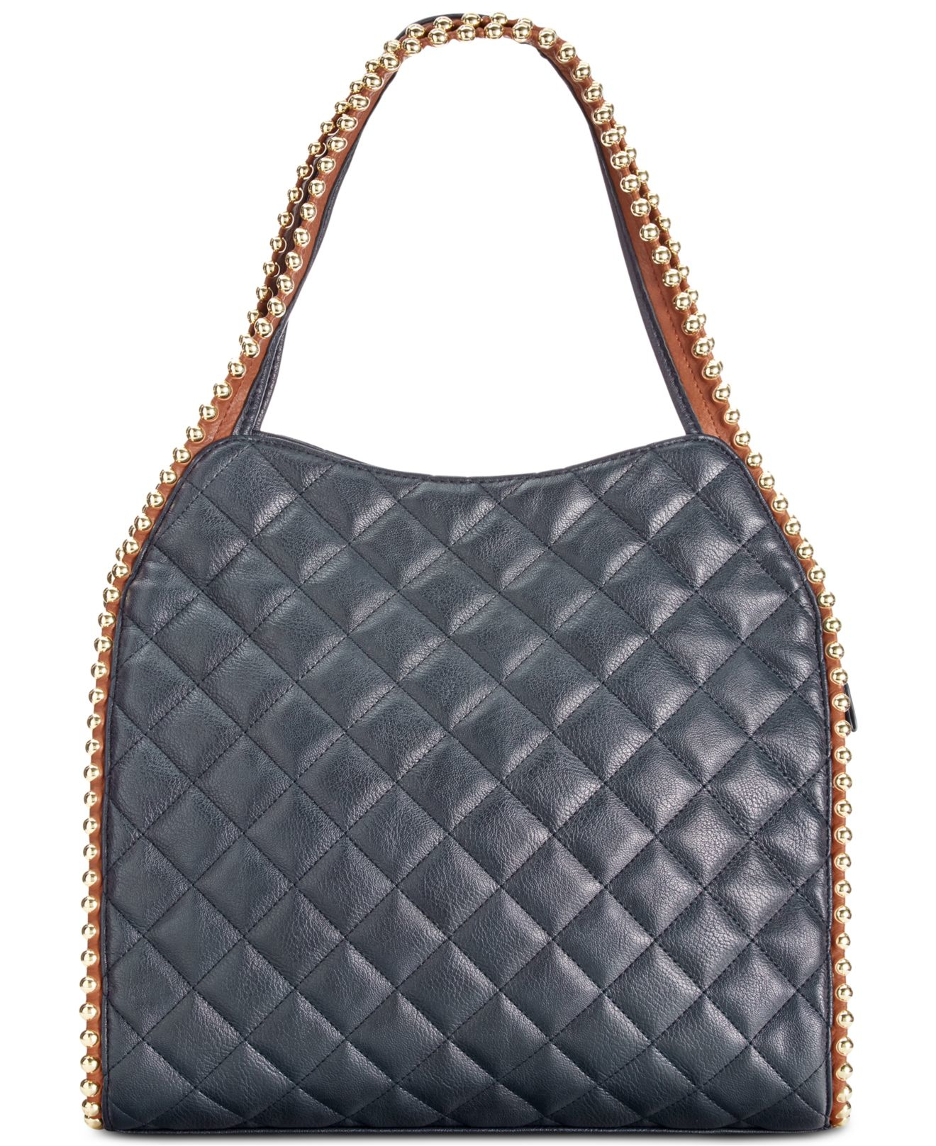 1e3519f121 Lyst - Big Buddha Quilted Gold Ball Tote in Blue