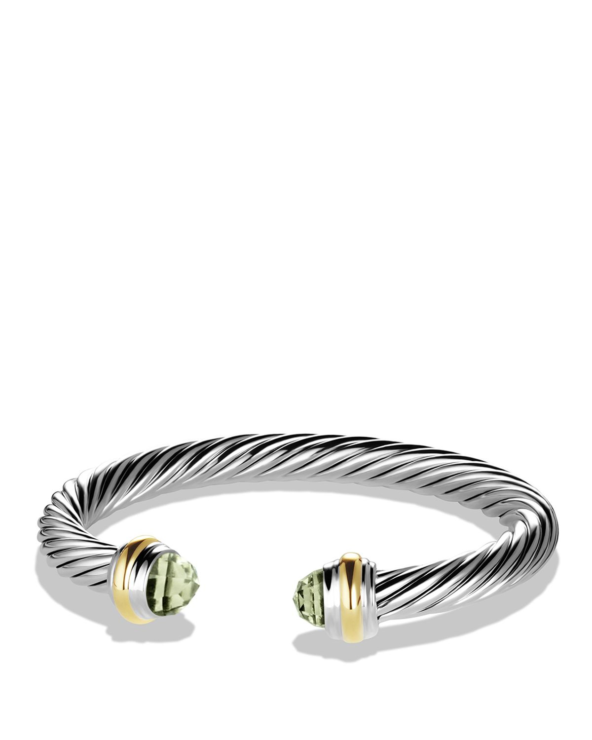 Lyst david yurman cable classics bracelet with for David yurman inspired bracelet cable