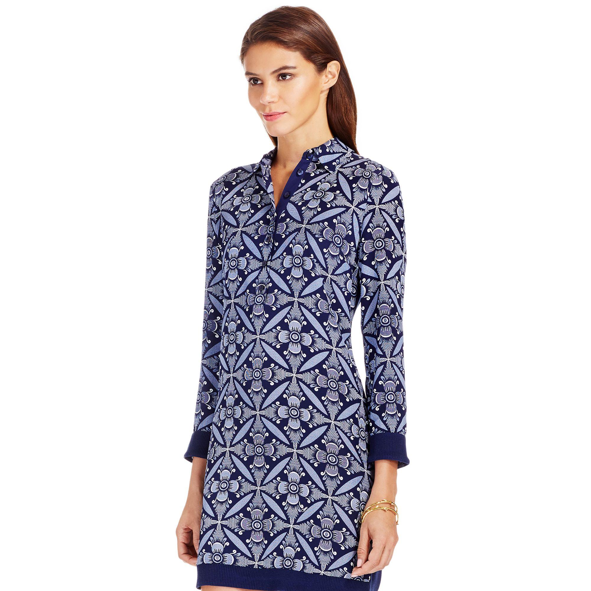 Lyst diane von furstenberg dvf sorrel knit combo shirt for Diane von furstenberg clothes