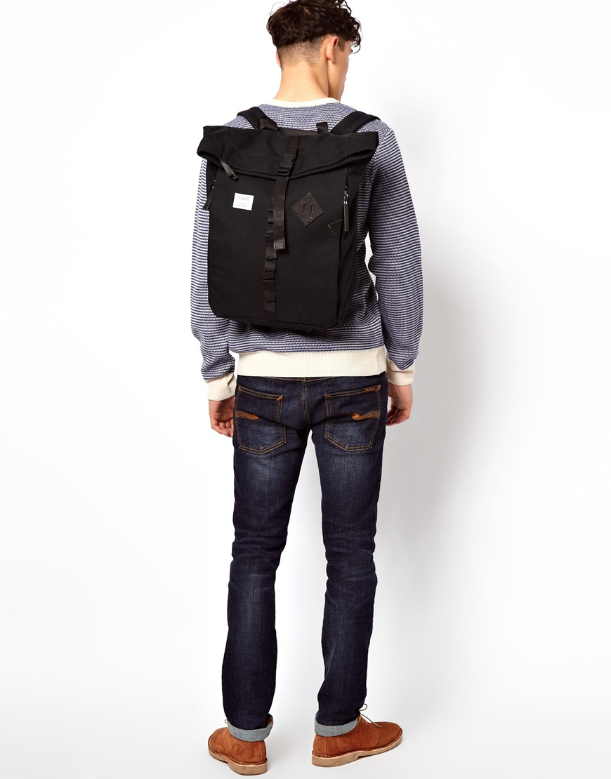 250e41105c Lyst - Sandqvist Eddy Rolltop Backpack in Black for Men