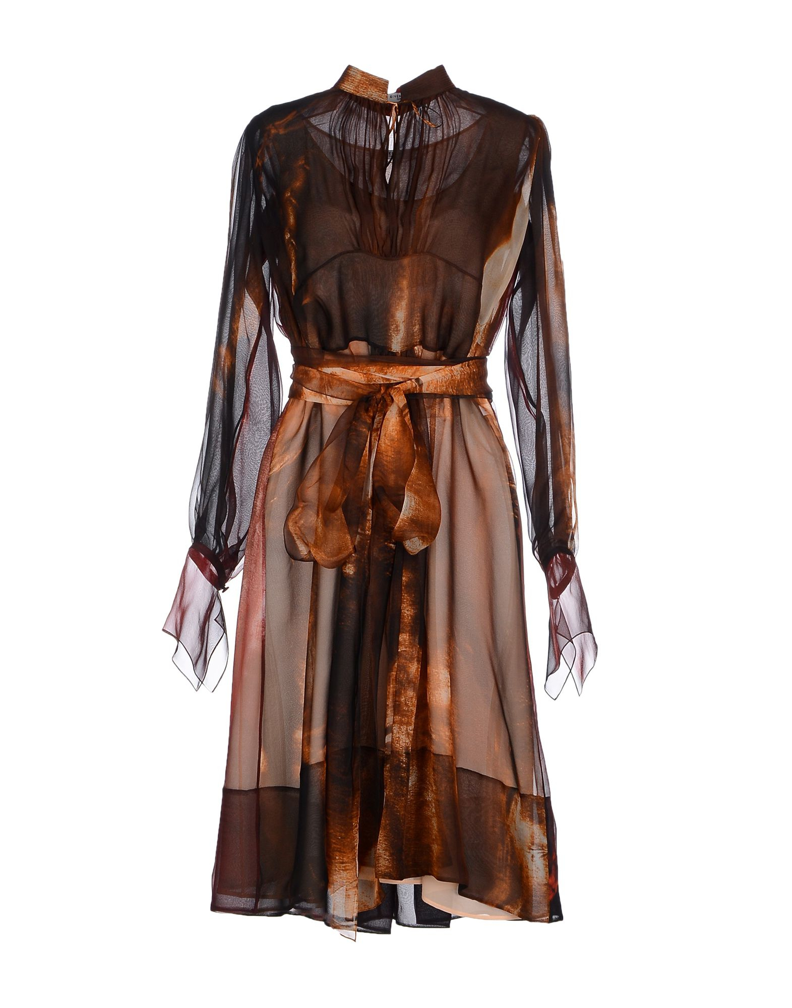 Lyst Givenchy Short Dress In Brown