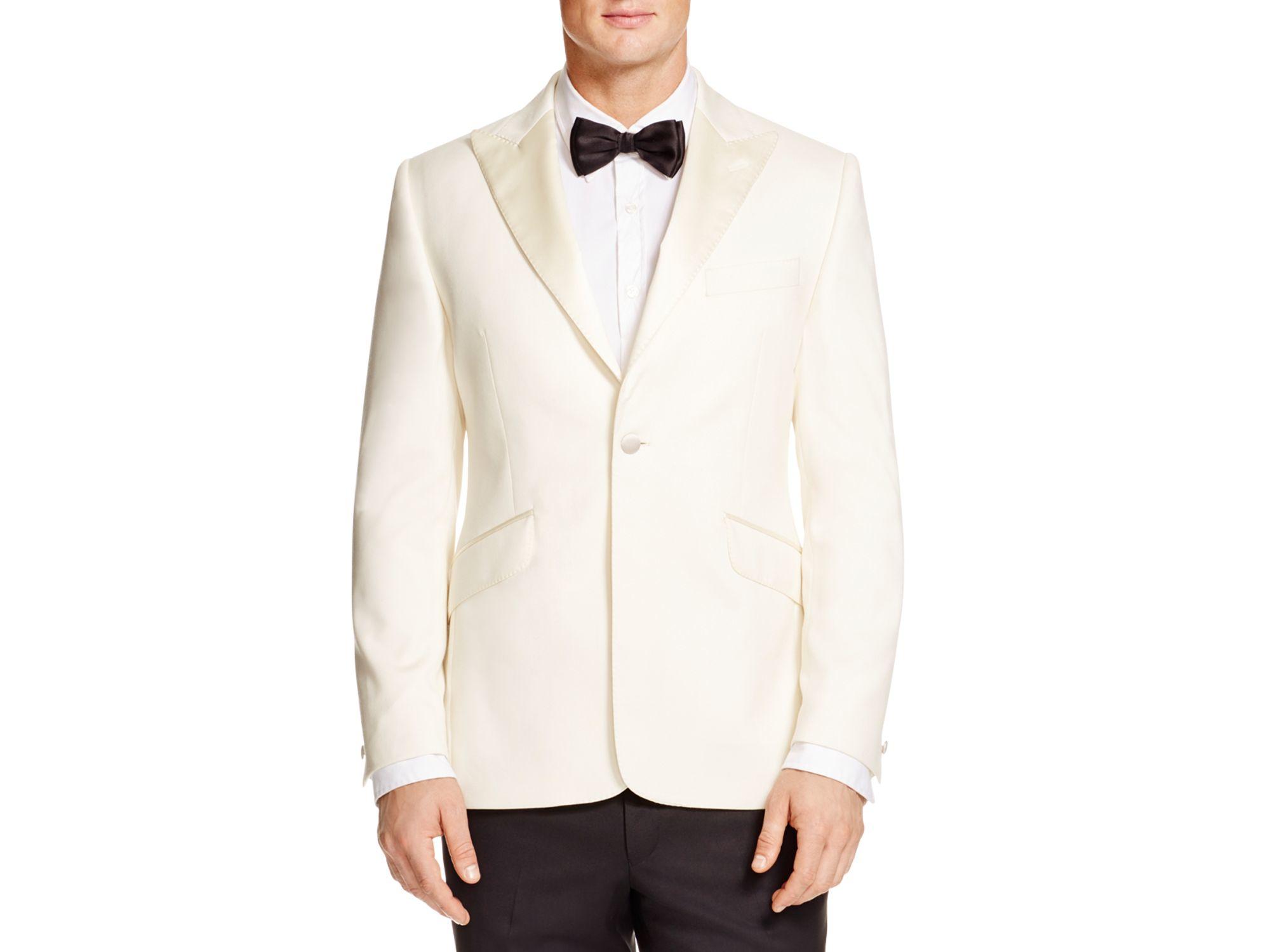 Duchamp Slim Fit Tuxedo Jacket In White For Men Lyst