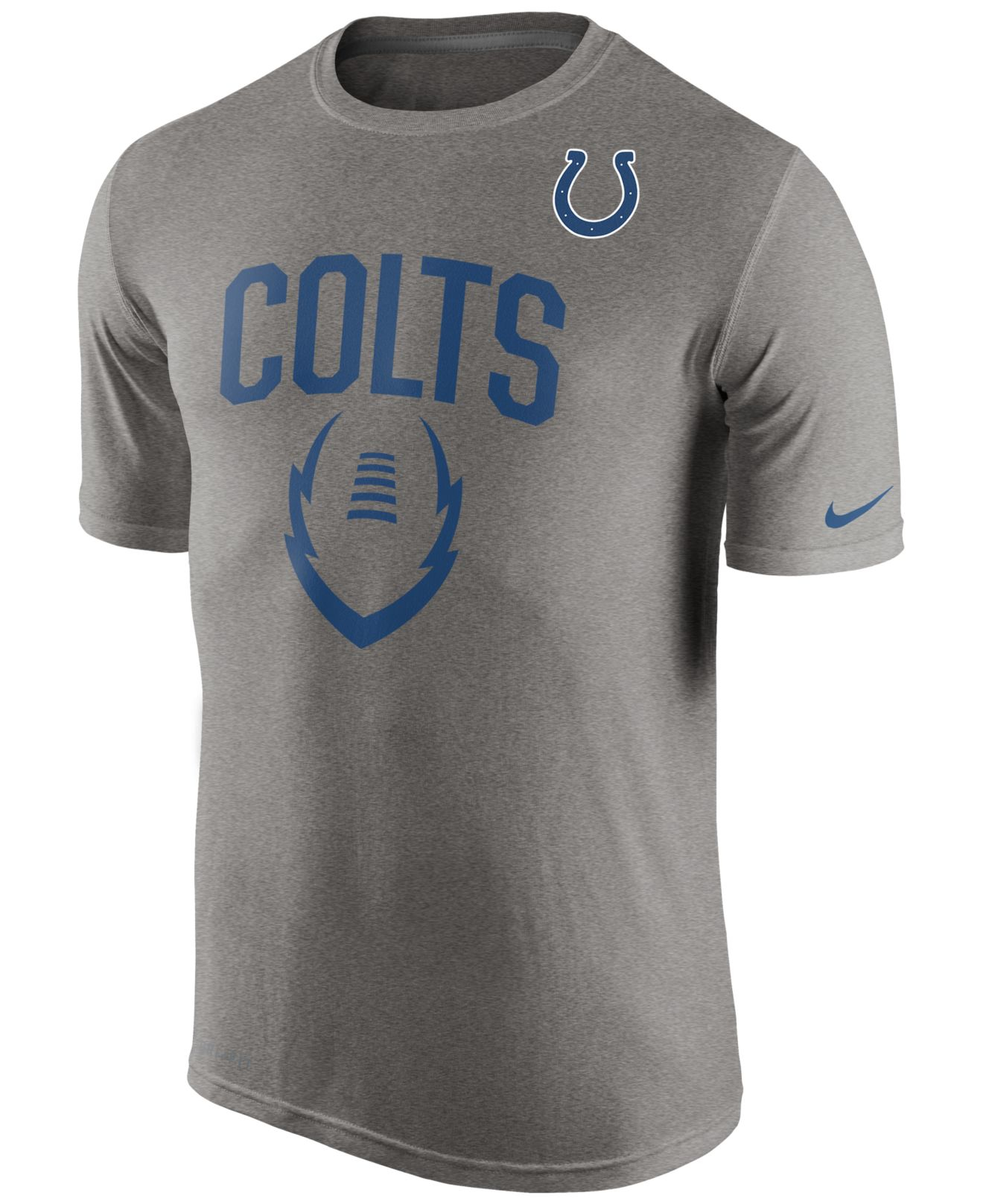 Nike Men 39 S Indianapolis Colts Legend Icon T Shirt In Gray