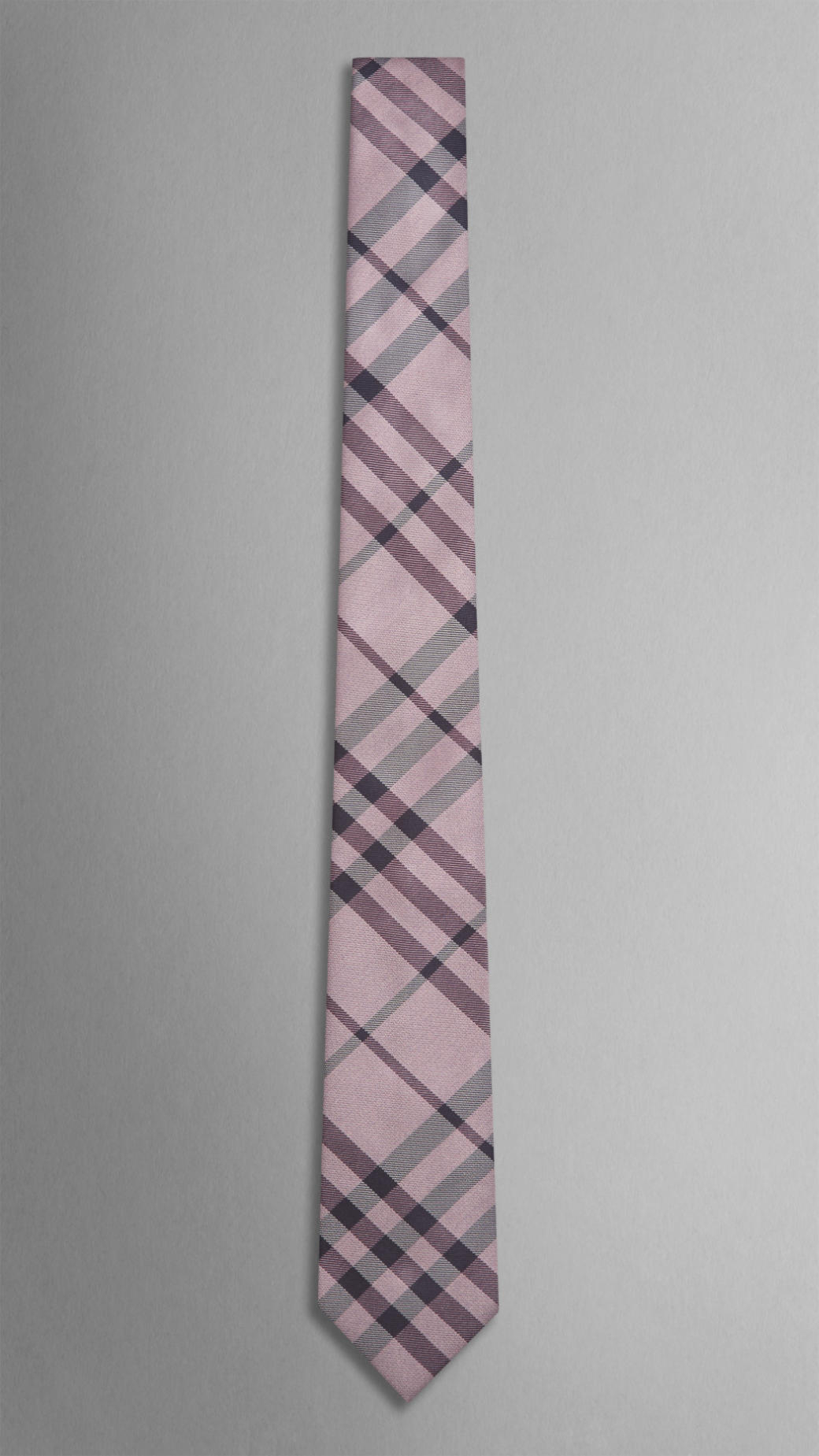 bc9d98c55da9 denmark lyst burberry check silk tie in pink for men a6d40 b84b1