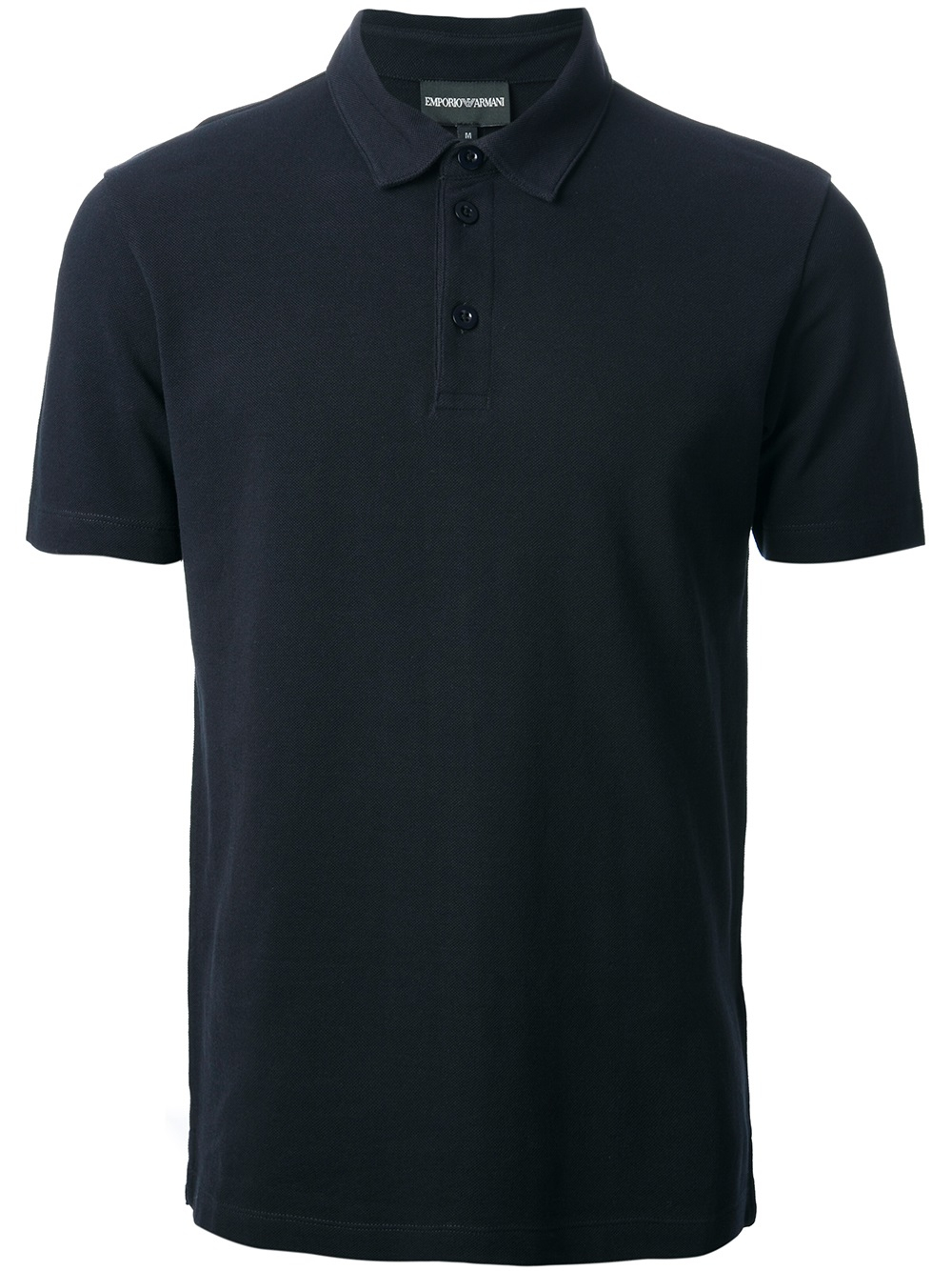Lyst emporio armani logo print polo shirt in blue for men for Polo shirts for printing