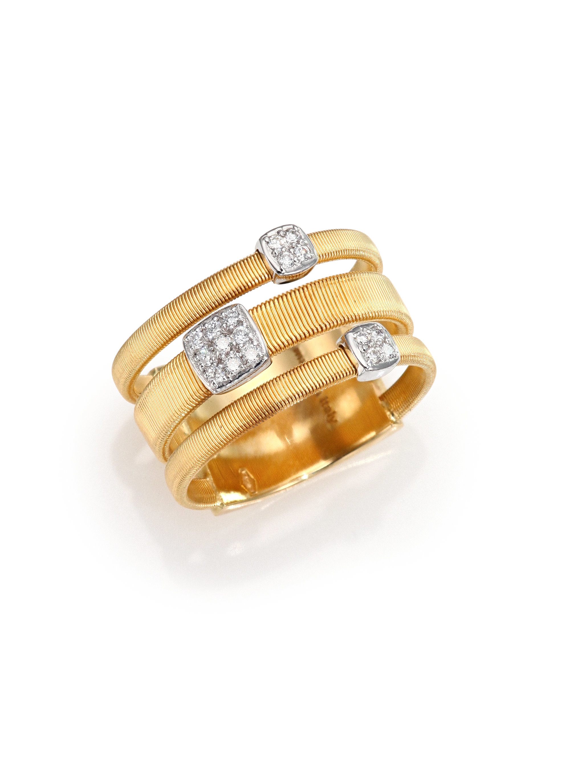 Marco Bicego Masai Ring with Diamonds in 18K Yellow Gold IB5kX