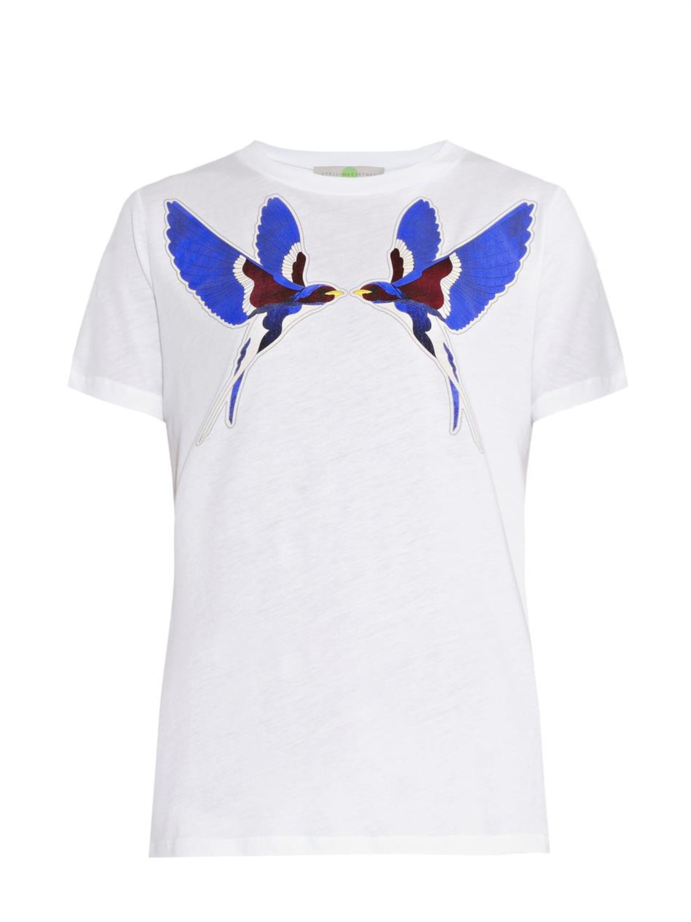 Stella Mccartney Swallow Print T Shirt In White Lyst