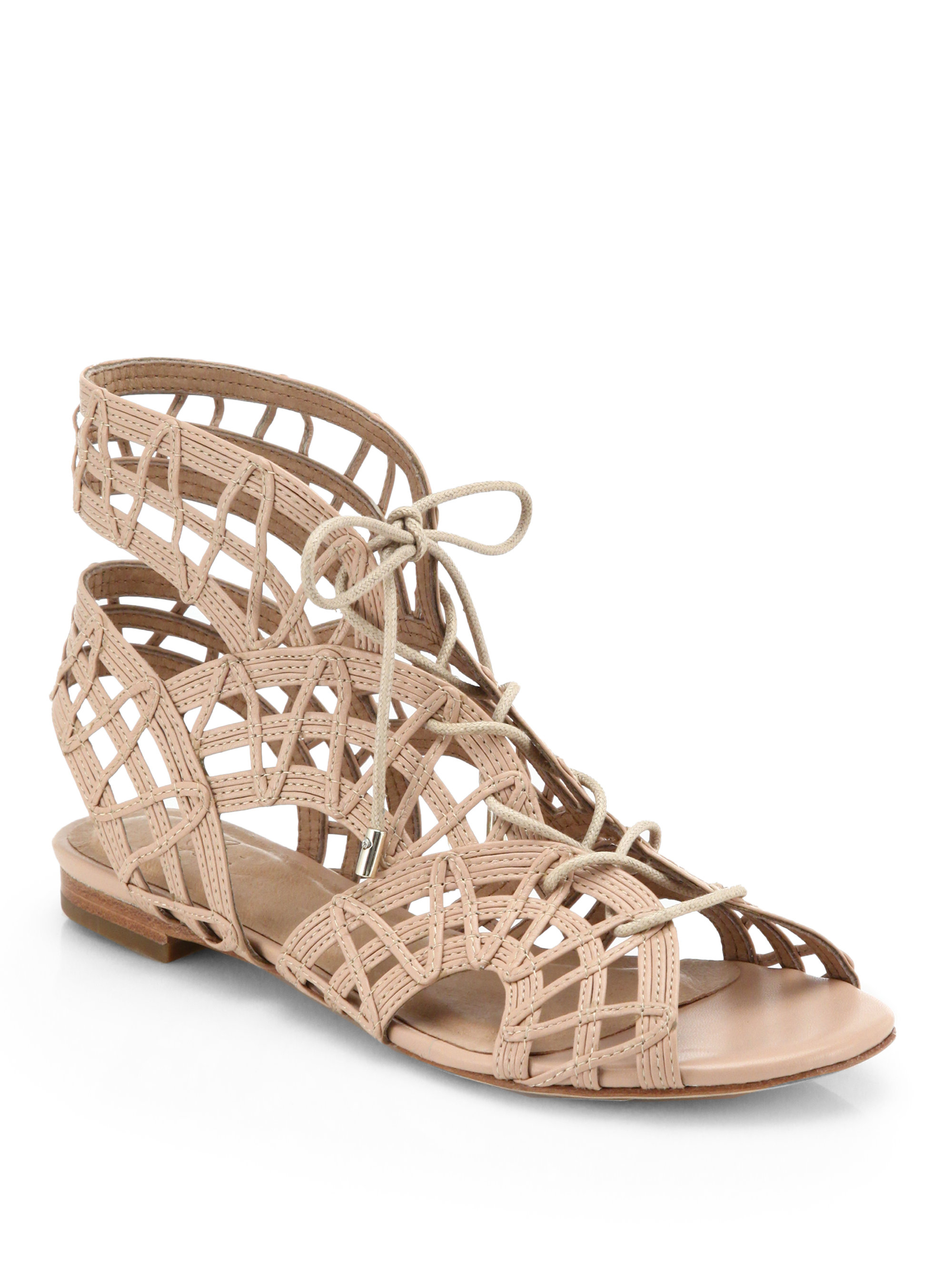 7662f8a69db6 Lyst - Joie Renee Caged Leather Gladiator Sandals in Natural