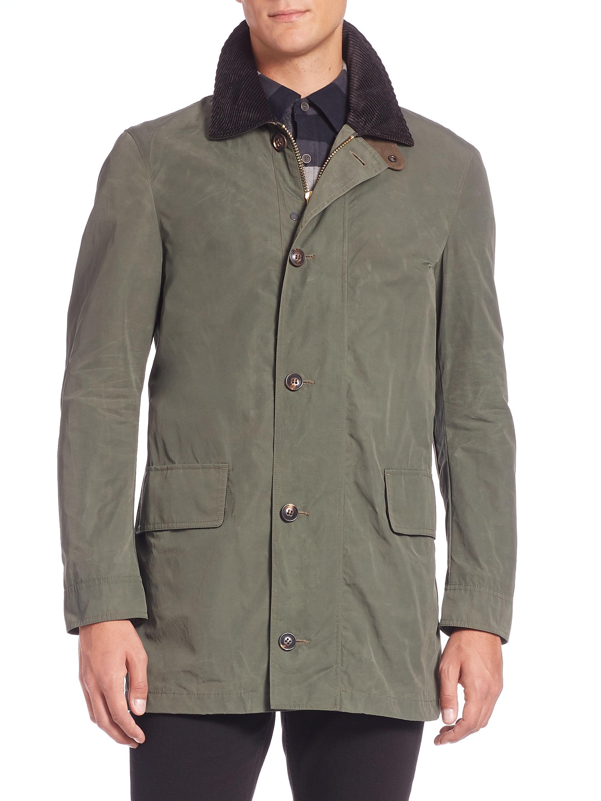 burberry brit bartlett cotton blend jacket in green for men lyst. Black Bedroom Furniture Sets. Home Design Ideas