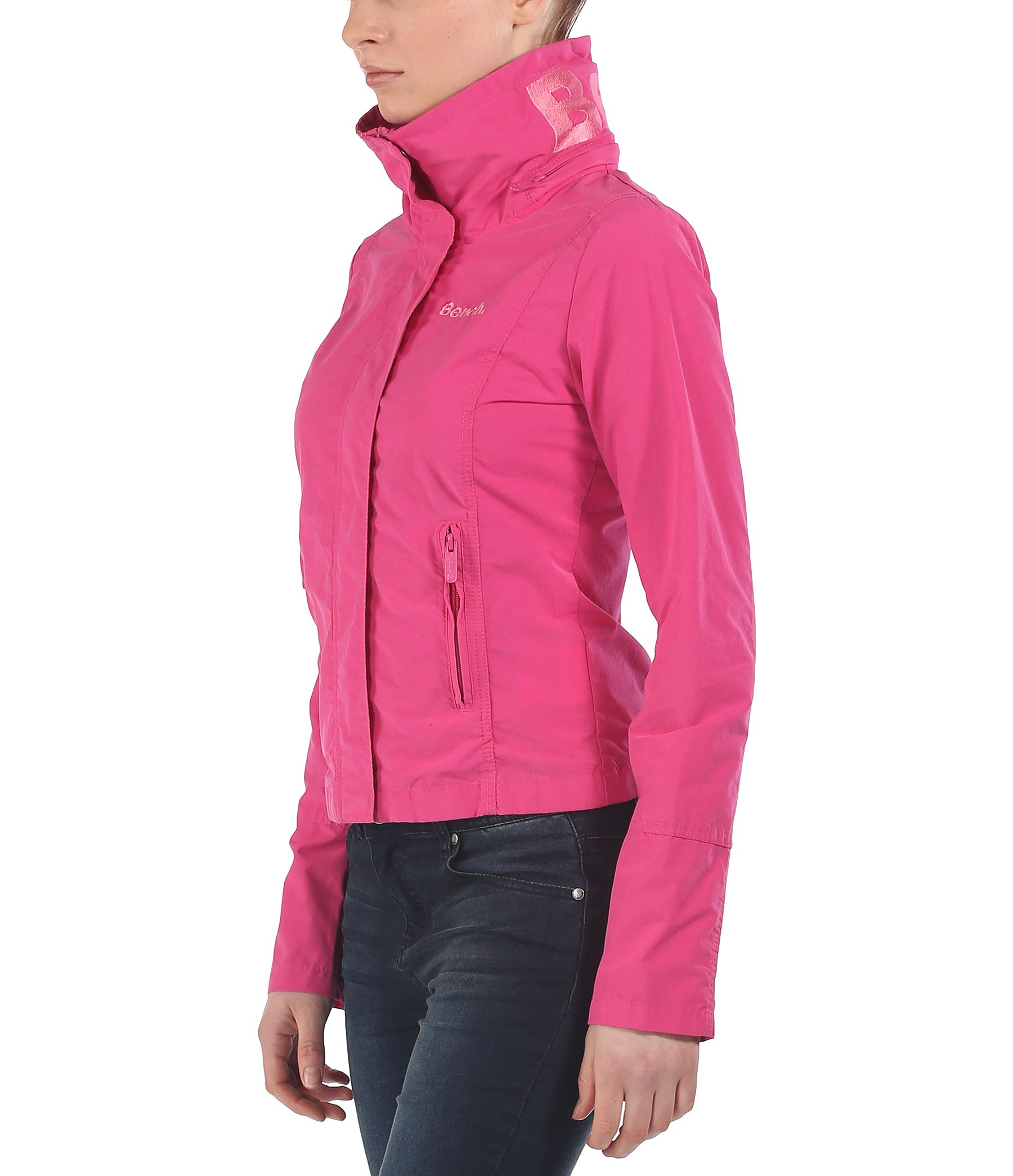Bench bbq c light hooded jacket in pink lyst Bench jacket