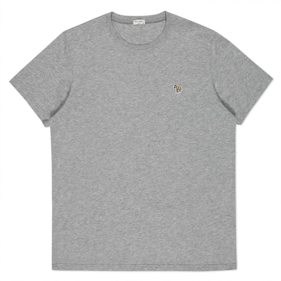 Lyst paul smith men 39 s grey marl zebra logo t shirt in for Grey marl t shirt