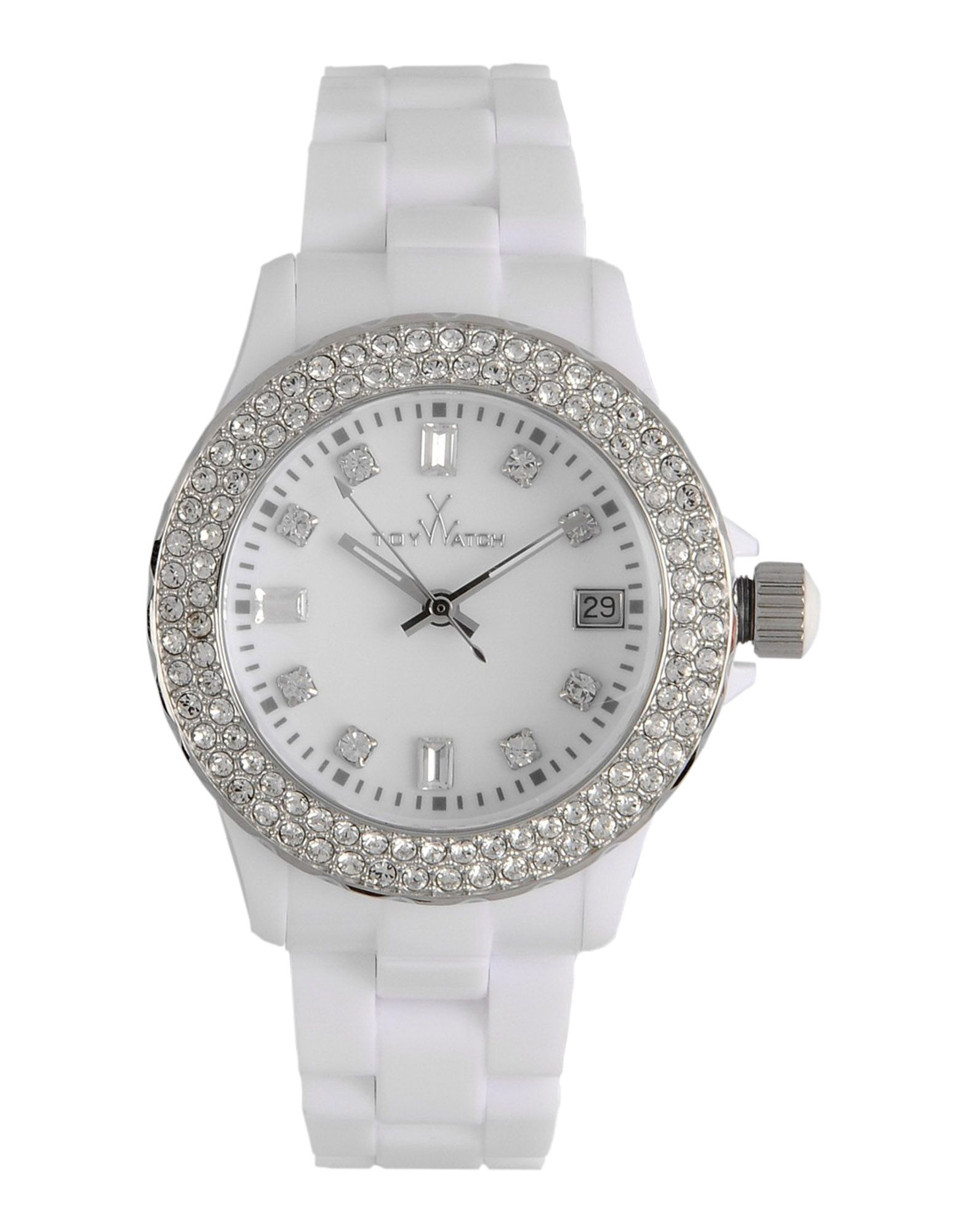 be9d37206 Find Toy Watch fashion for women at. and is presented on the plasteramic  bracelet, Stainless steel & White Uni. Casual watch style. Toy Watch Crystal-set  ...