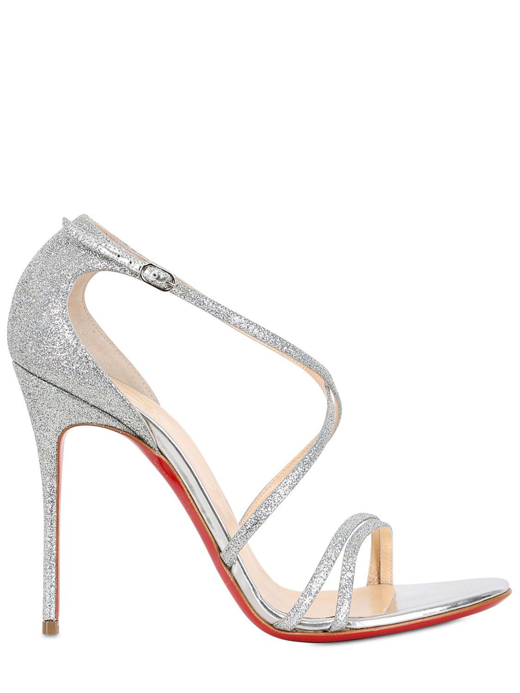 c60e511cabd christian louboutin gwynitta glitter sandals