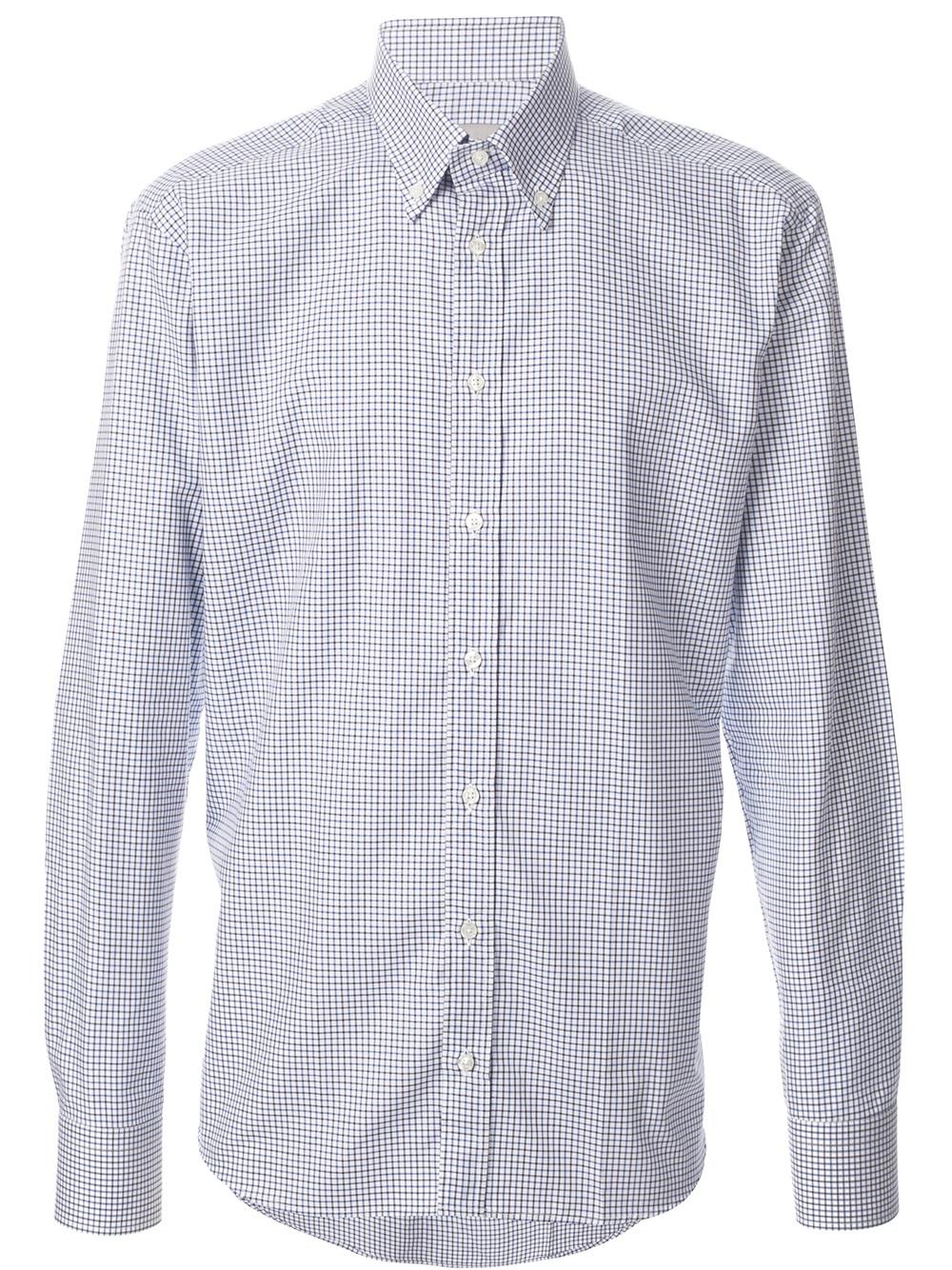 Etro Fine checked shirt vTX64J6