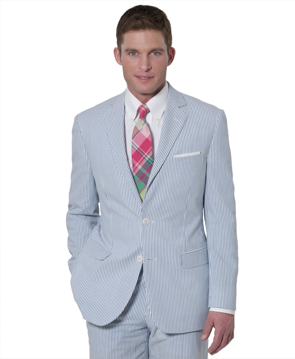 Brooks brothers Seersucker Fitzgerald Fit Suit in Blue for ...