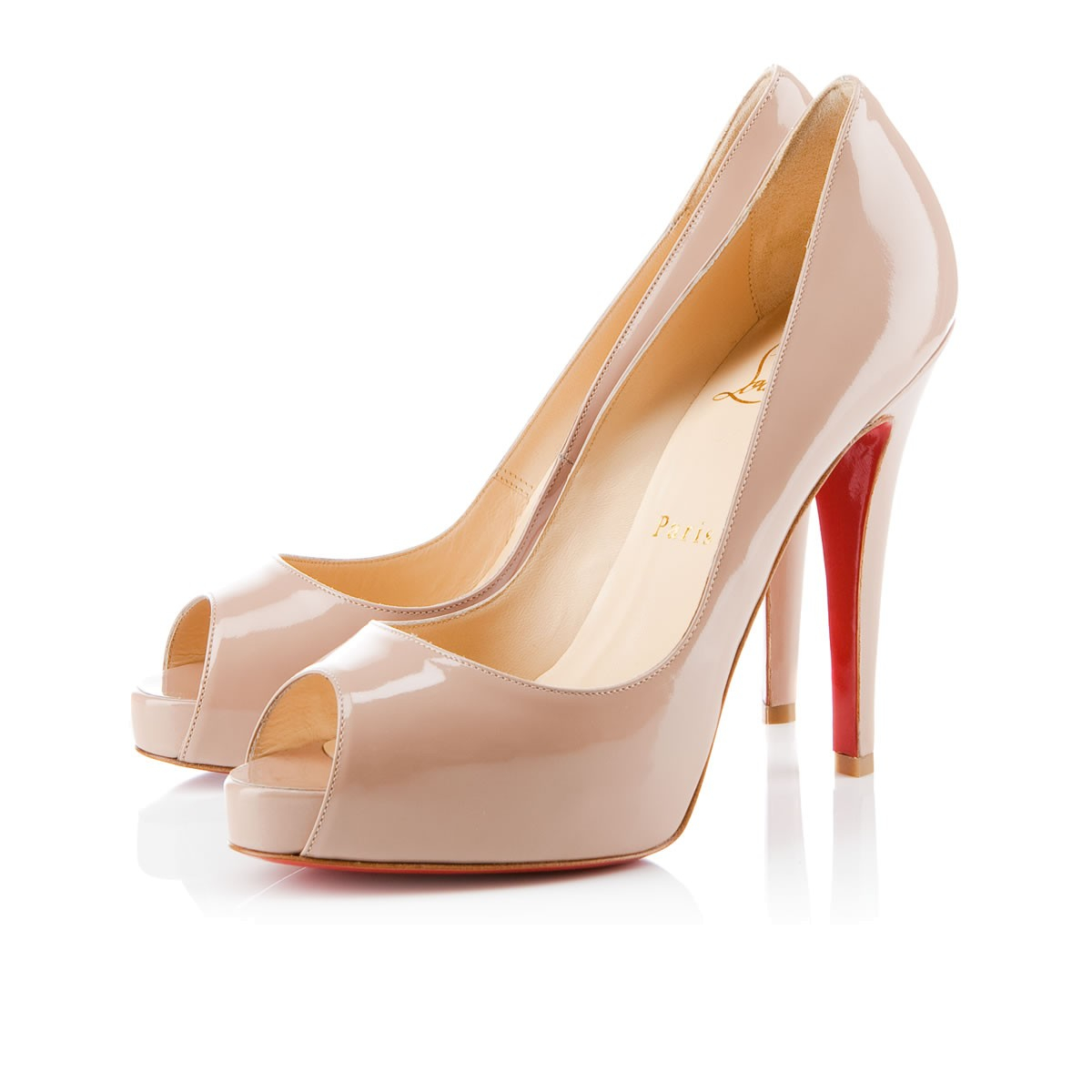 christian louboutin patent leather very prive pumps