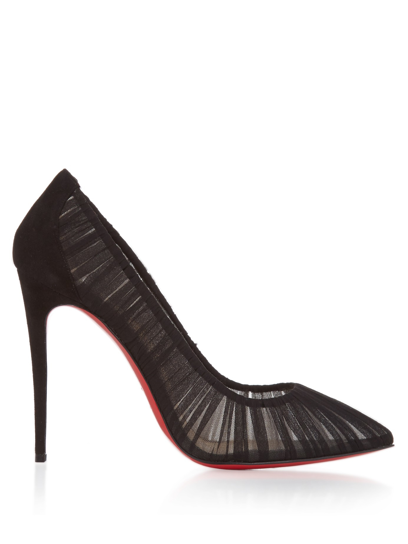 6d4a3c8523c2 Lyst - Christian Louboutin Women s Follie Draperia Pumps in Black
