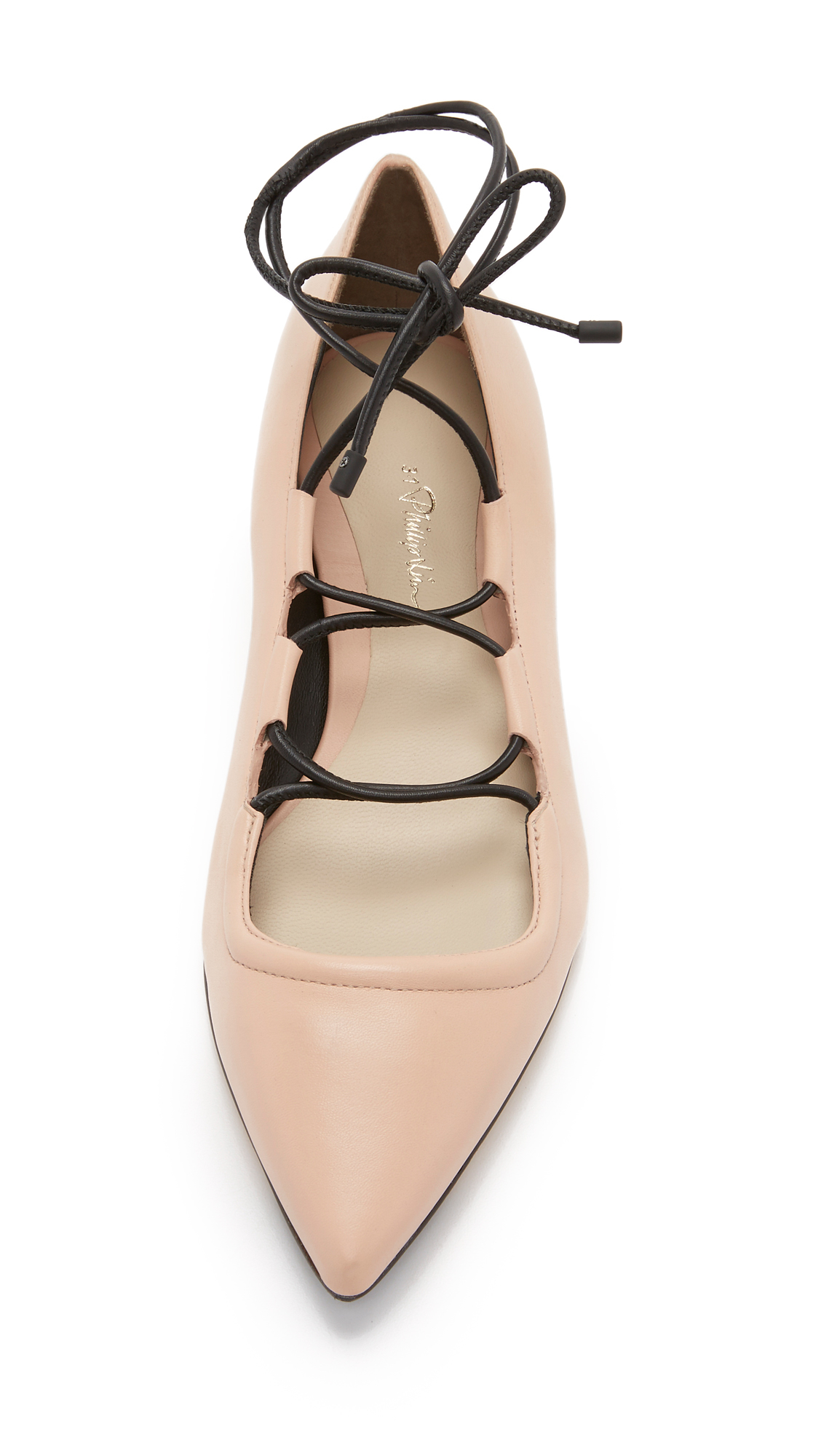 clearance 2014 unisex discount high quality 3.1 Phillip Lim Pointed-Toe Lace-Up Flats online sale free shipping cheap quality A3wZJ2xA