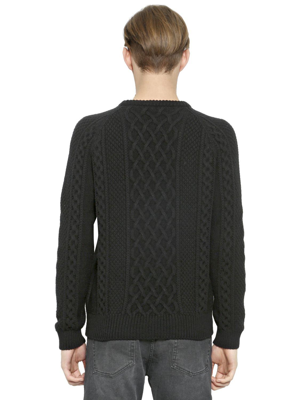 Lyst - Alexander mcqueen Aran Skull Sweater in Merino Wool ...