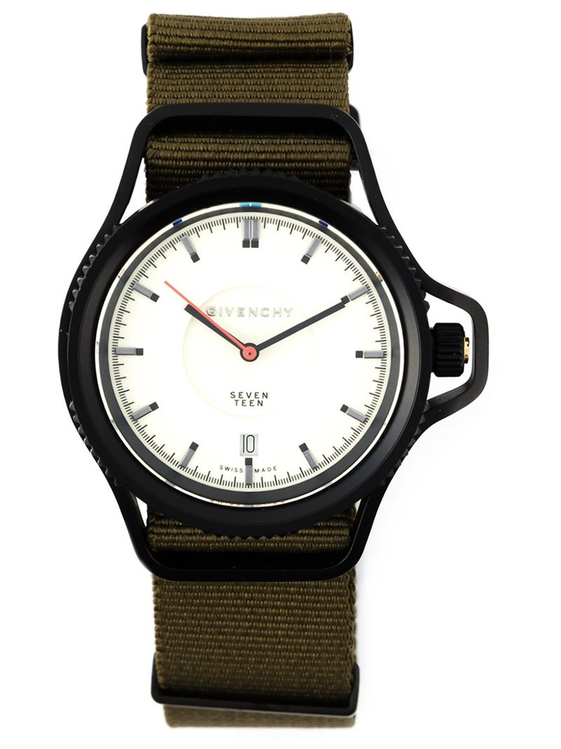 givenchy 39 seventeen 39 watch in green black lyst