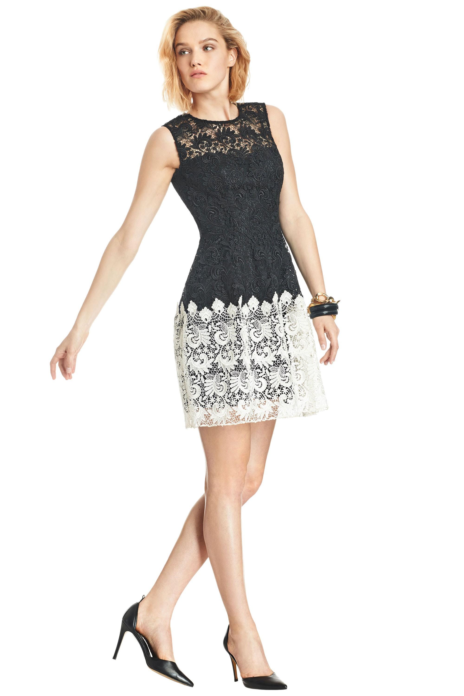 clothing allen schwartz lace dress black