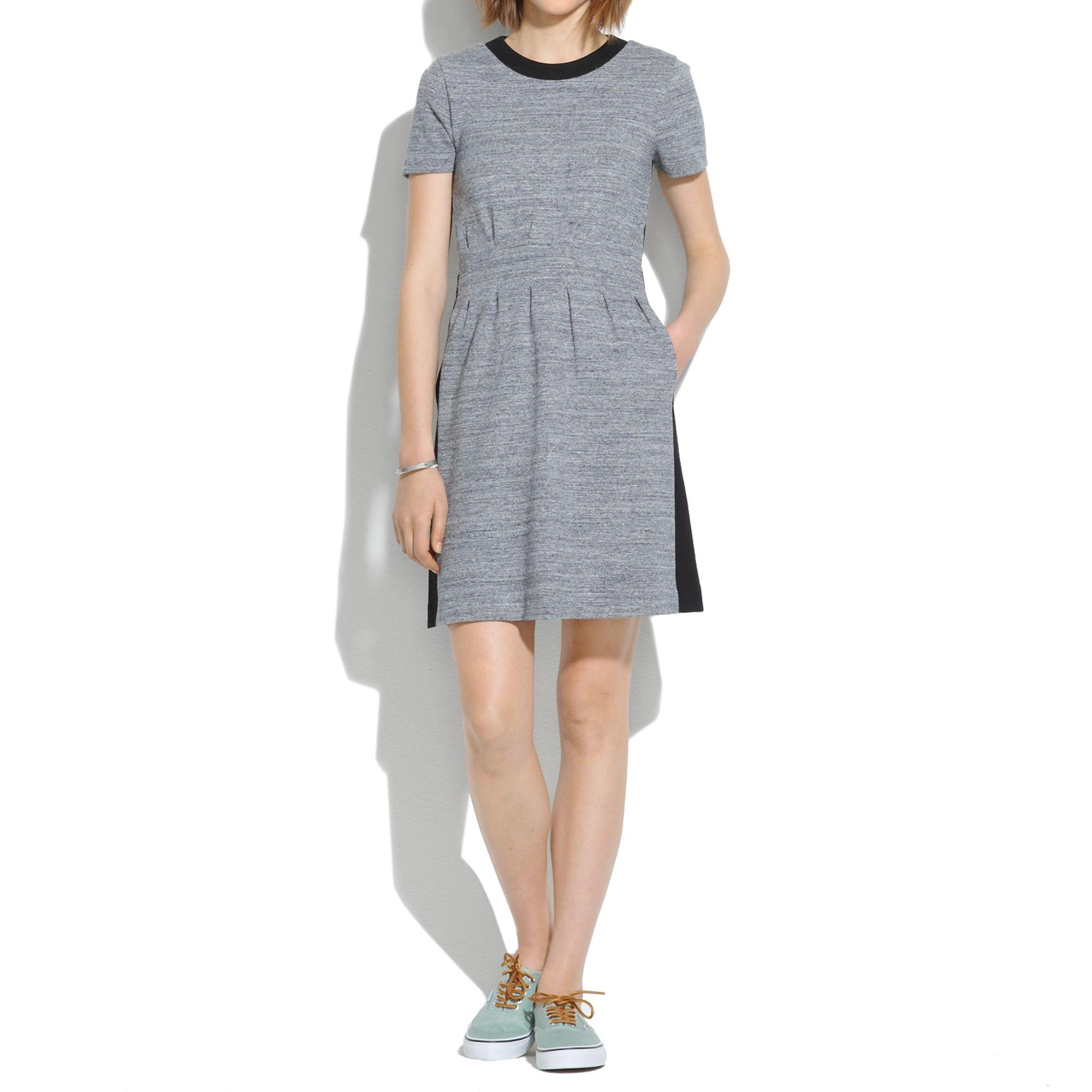 49114dbd67b Lyst - Madewell Parkline Dress in Colorblock in Gray