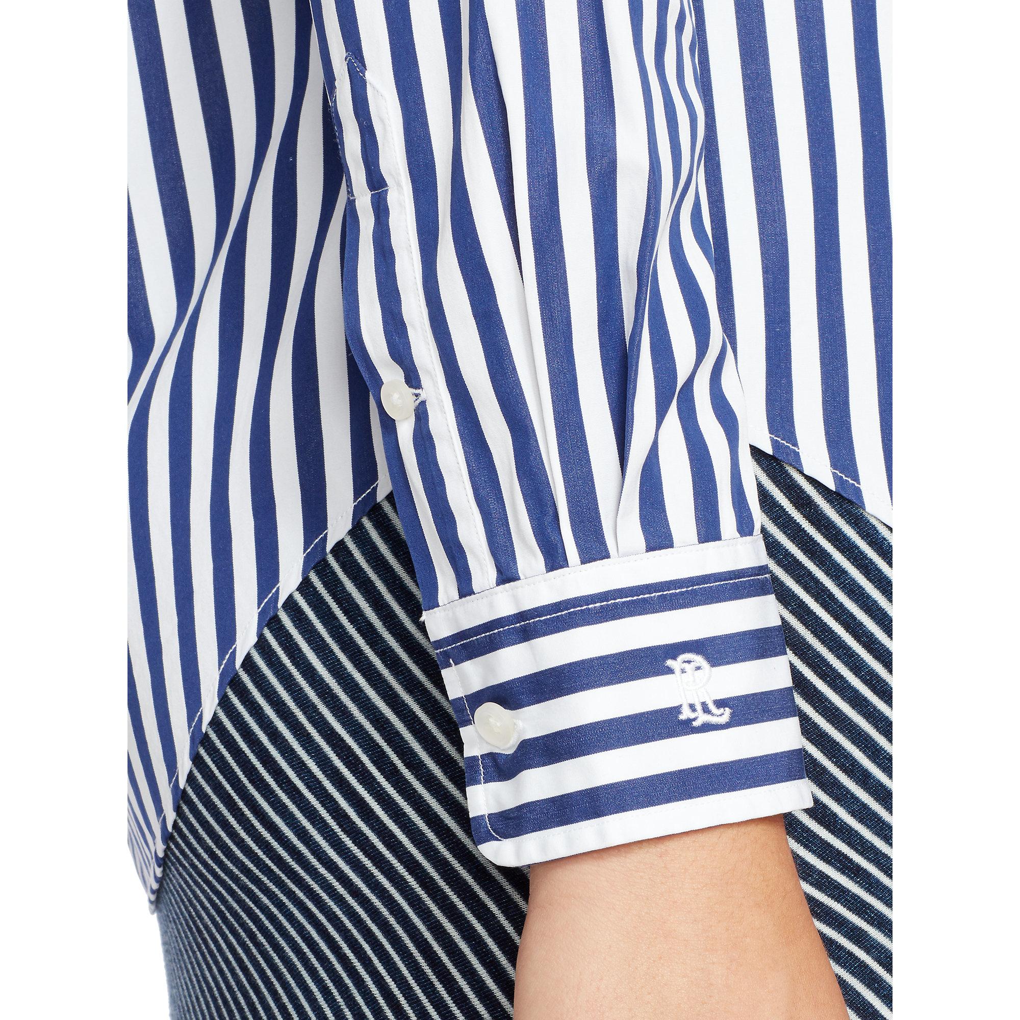 93dea957 Polo Ralph Lauren Bengal-striped Cotton Shirt in Blue - Lyst