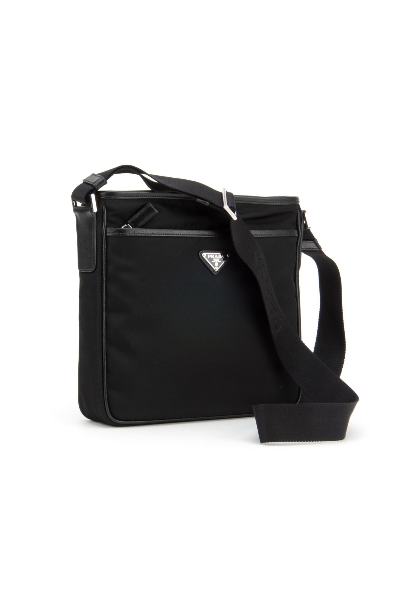 Prada Twill And Saffiano Travel Bag in Black for Men (NERO)   Lyst