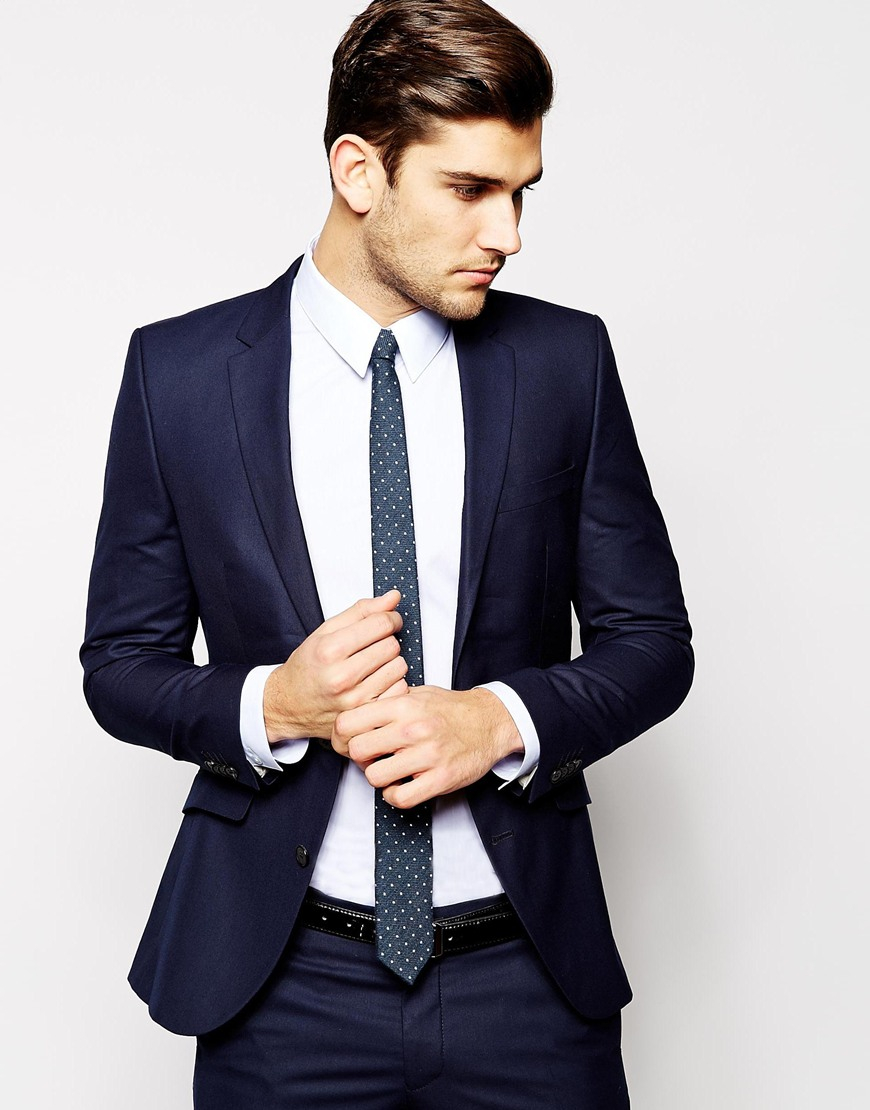 Selected Selected Suit Jacket In Skinny Fit in Blue for Men | Lyst