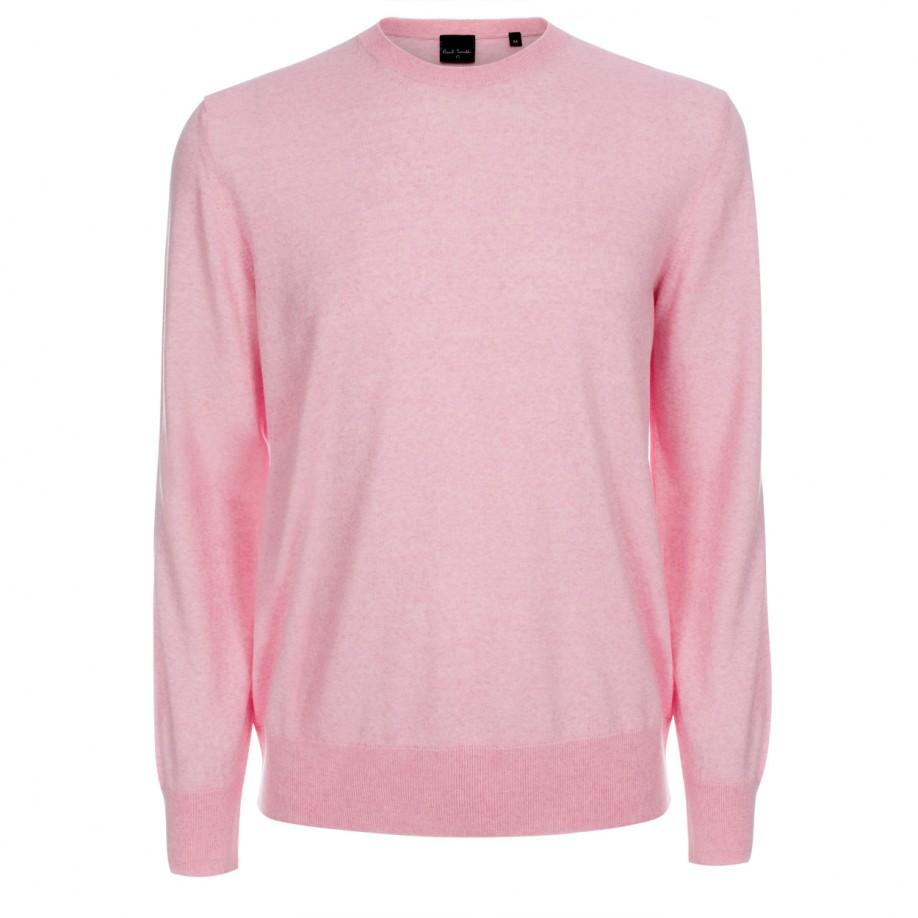 Paul smith Men's Light Pink Merino Wool Sweater in Pink for Men | Lyst