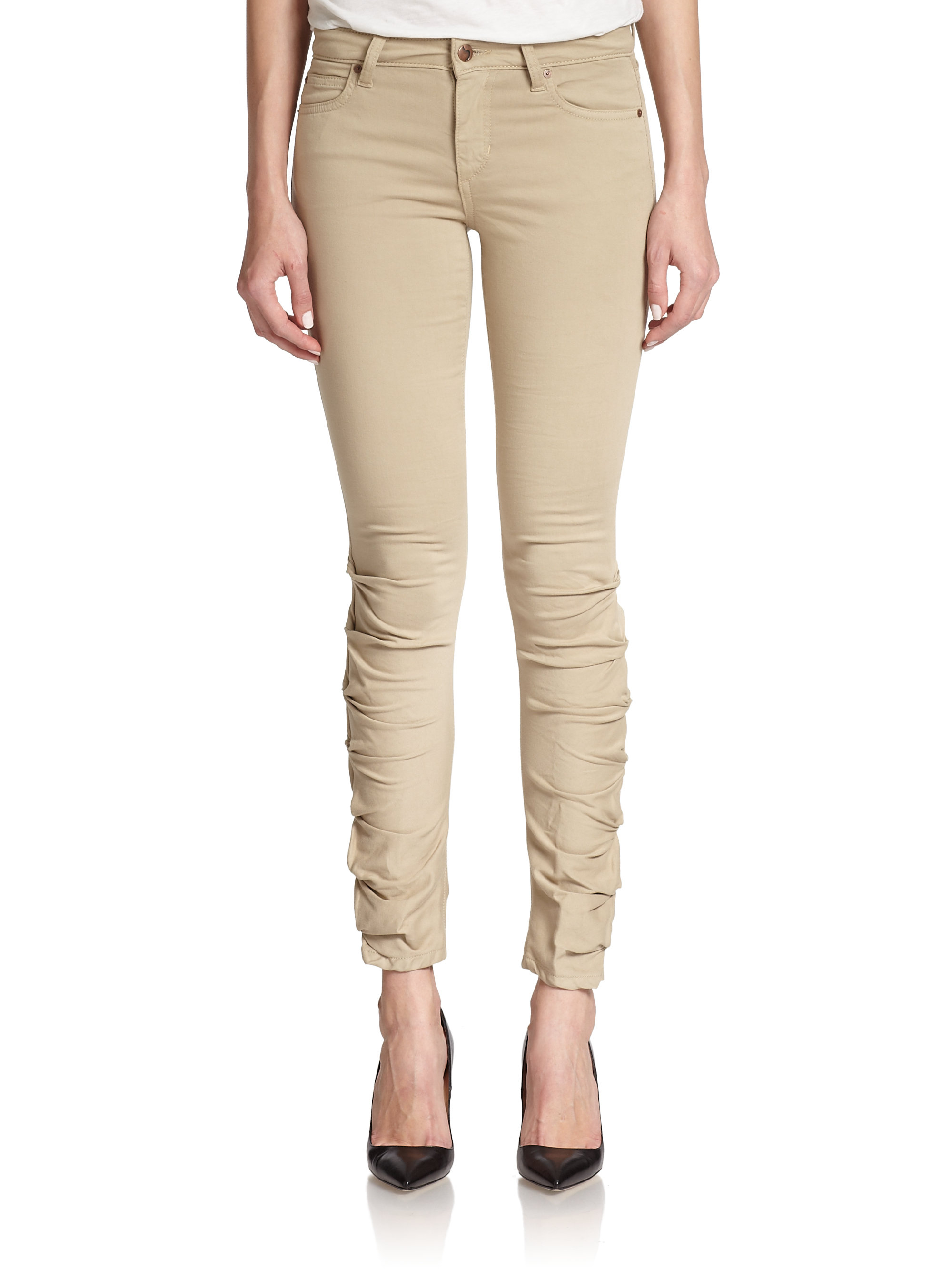 0d06e1166fb Lyst - Joe s Jeans Sooo Soft Ruched Skinny Jeans in Brown