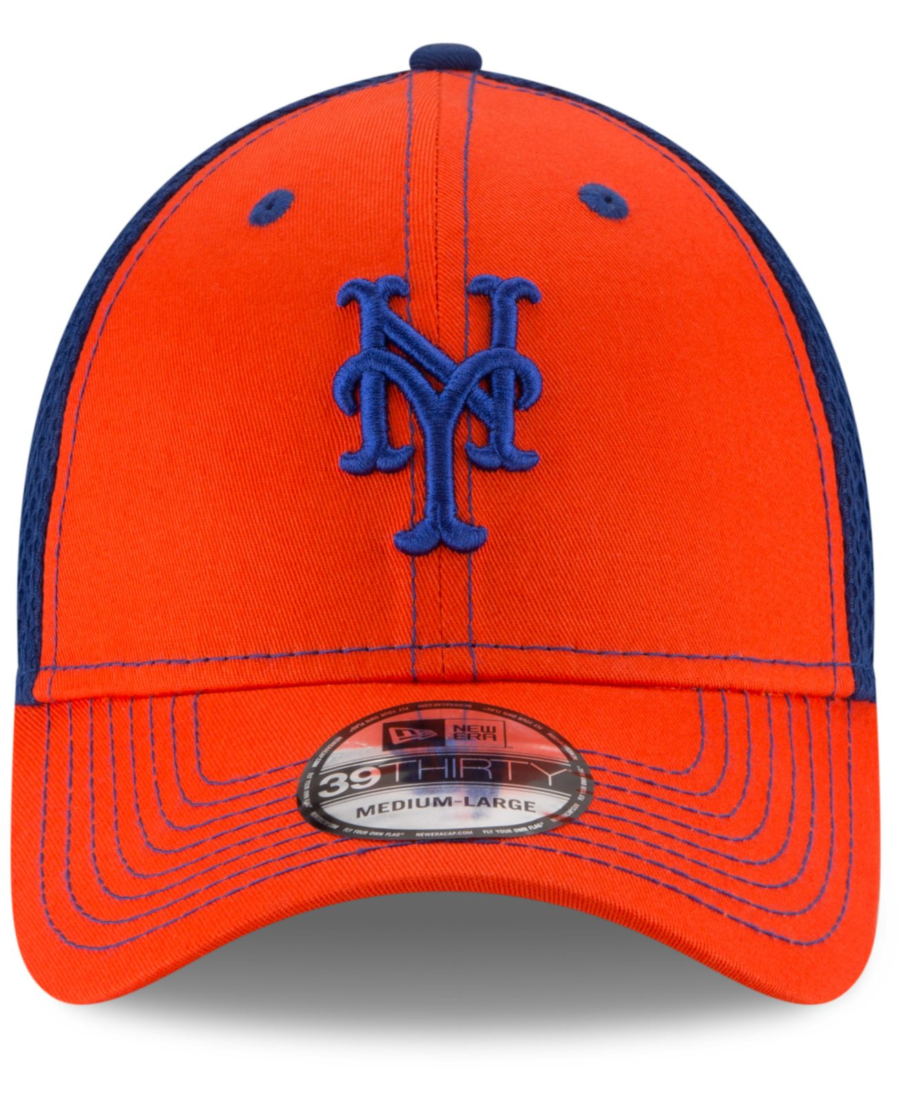 low priced 23ad0 e15fa Lyst - KTZ New York Mets Team Front Neo 39thirty Cap in Blue for Men