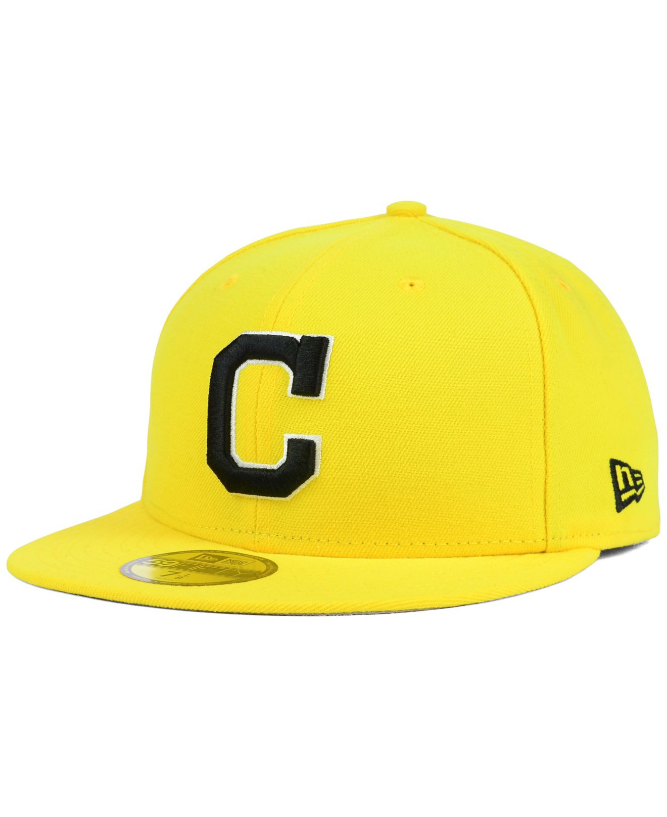 new arrival 0d3dc 749d3 KTZ Cleveland Indians C-dub 59fifty Cap in Yellow for Men - Lyst