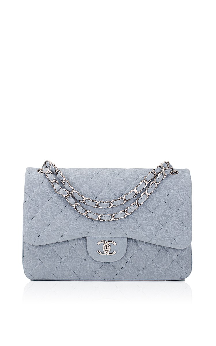 4a869a60c7c5 Lyst - Madison Avenue Couture Chanel Pastel Blue Iridescent Quilted ...