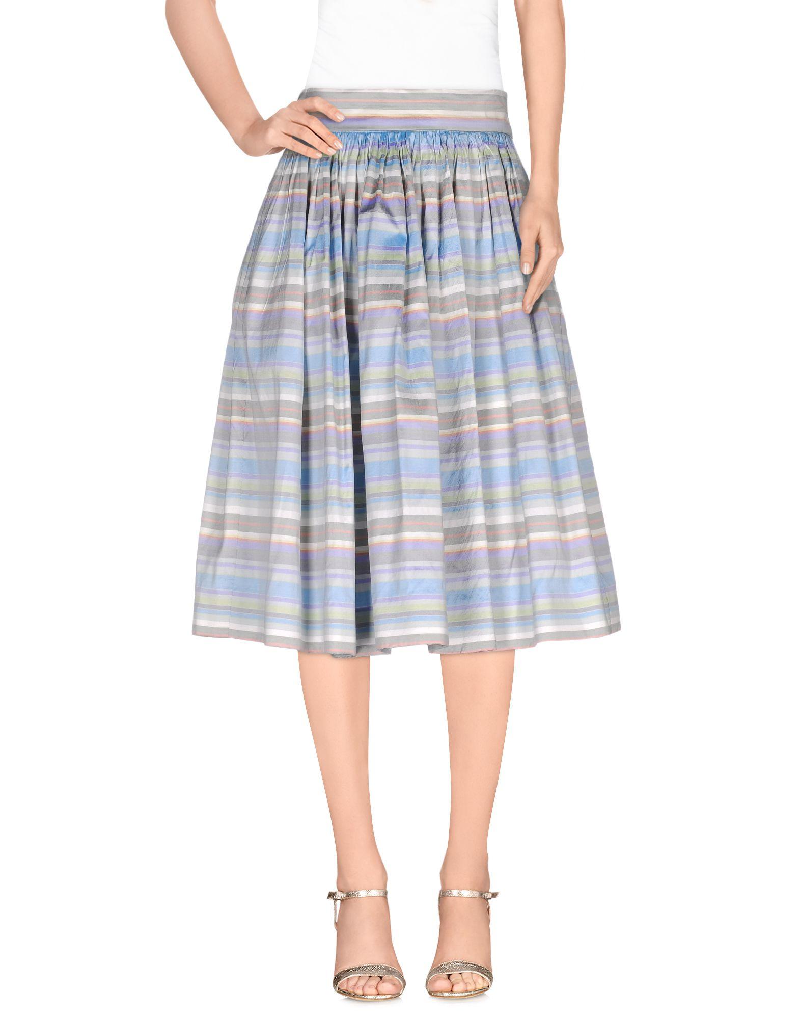 imperial knee length skirt in blue sky blue lyst