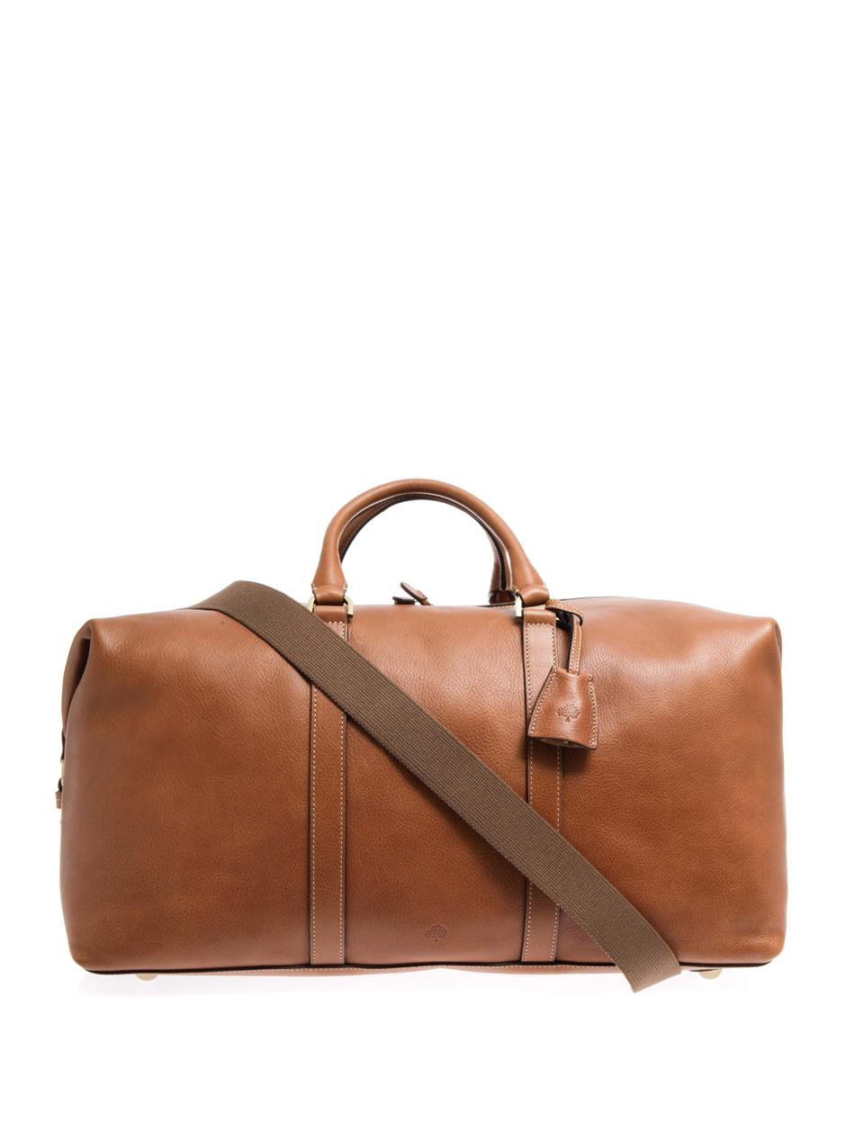 Mulberry Leather Clipper Weekend Bag in Brown for Men | Lyst