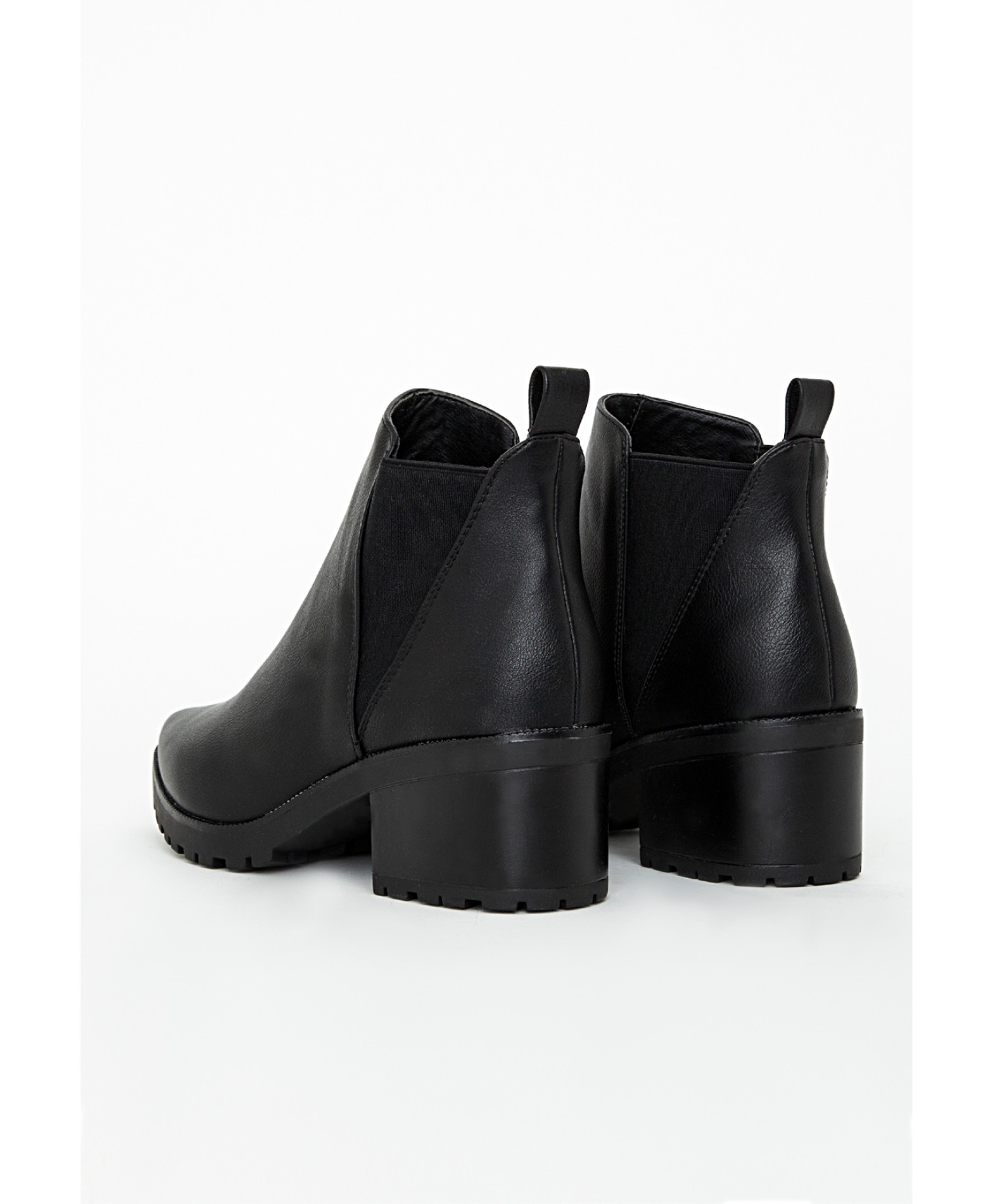 missguided pointed toe chelsea boots black lyst