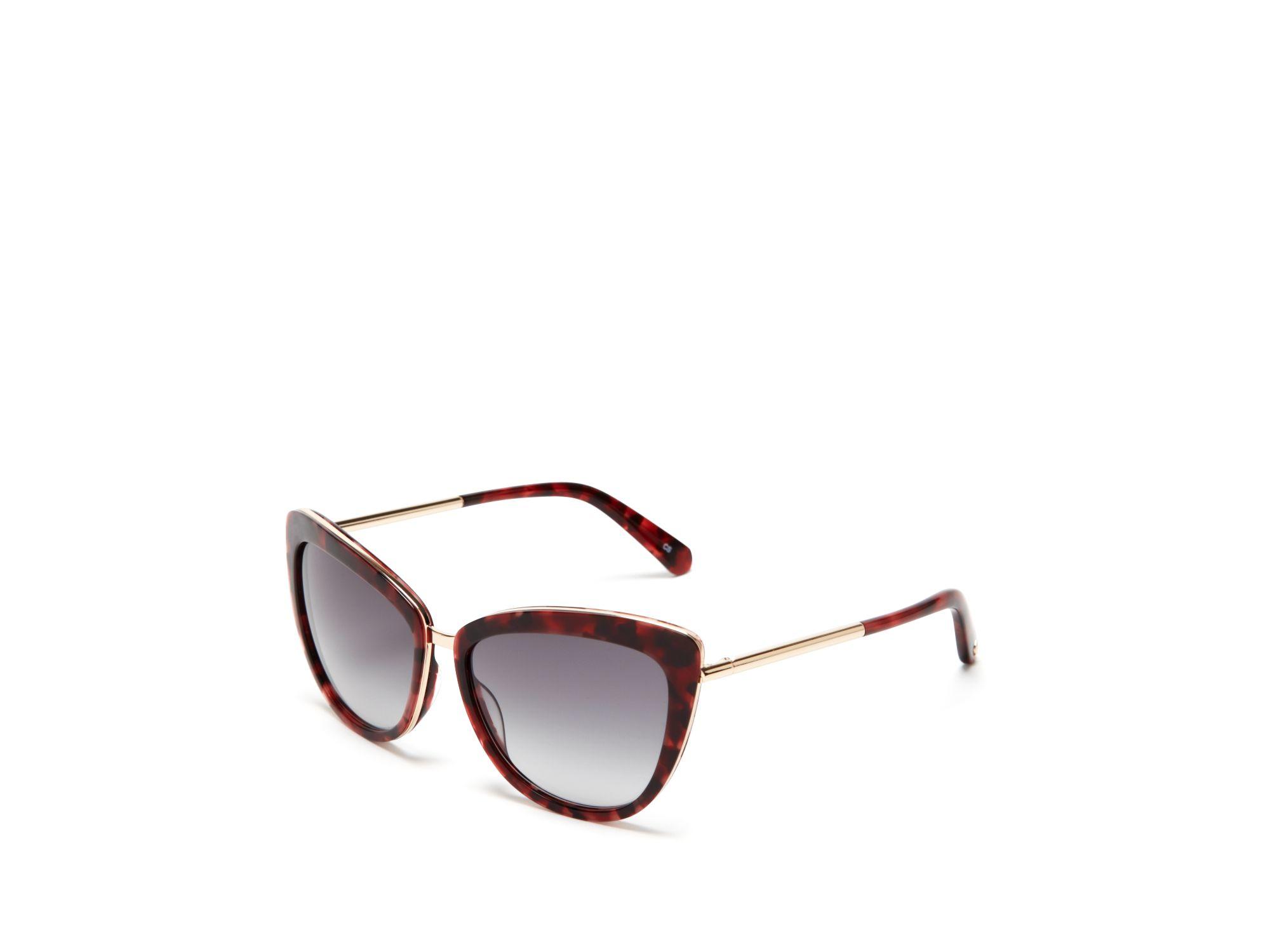 b852d895542e4 Kate Spade Kandi Combo Cat Eye Sunglasses