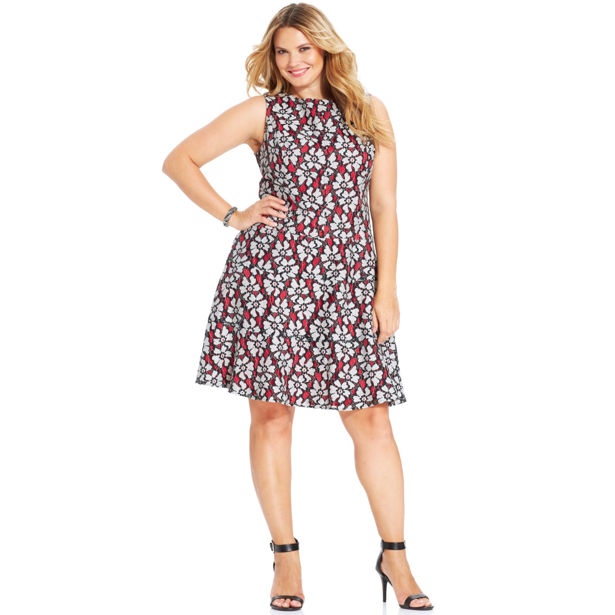 Lyst Anne Klein Plus Size Sleeveless Florallace Dress