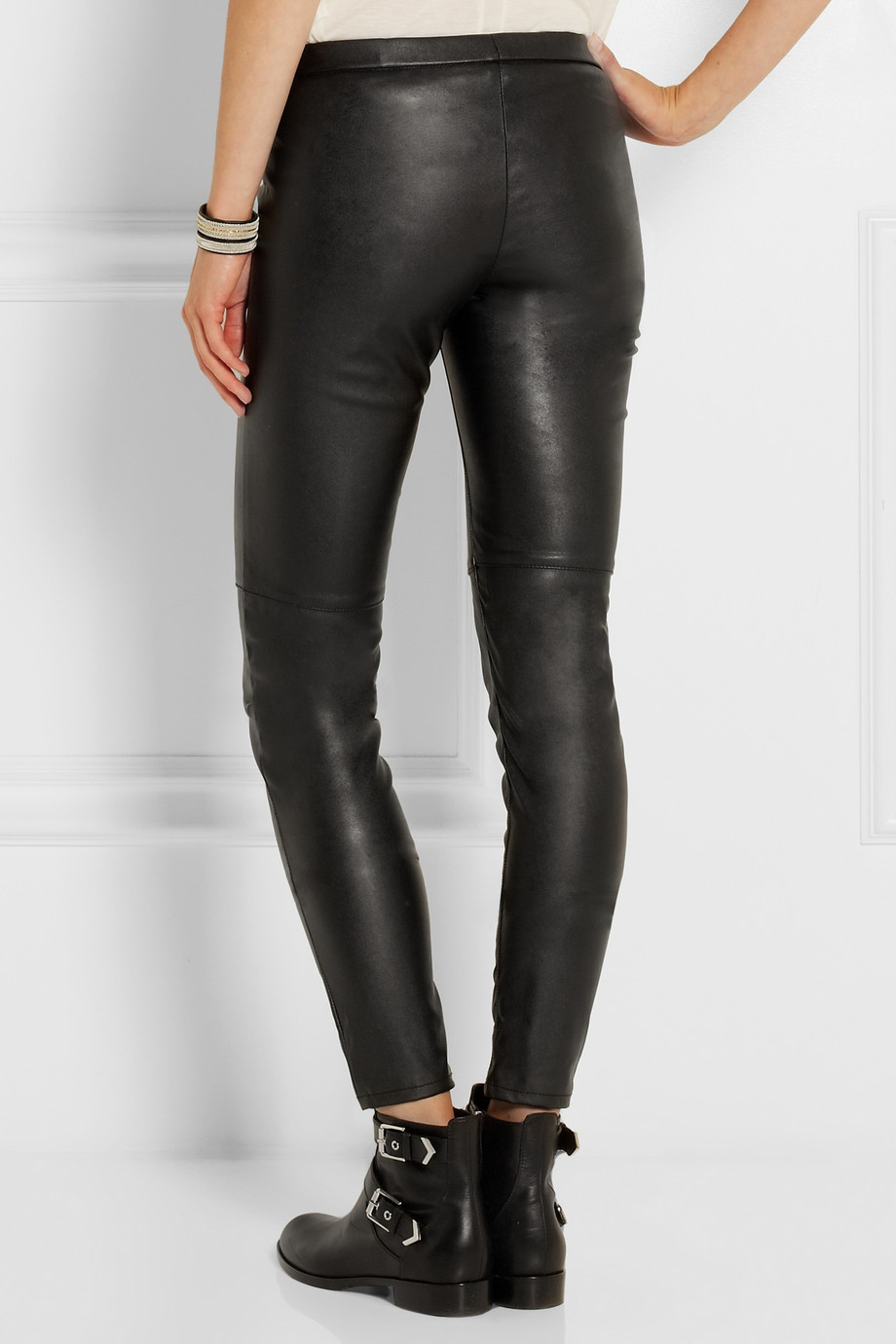 1136b98e48f8a3 Gallery. Previously sold at: NET-A-PORTER · Women's Faux Leather Pants ...