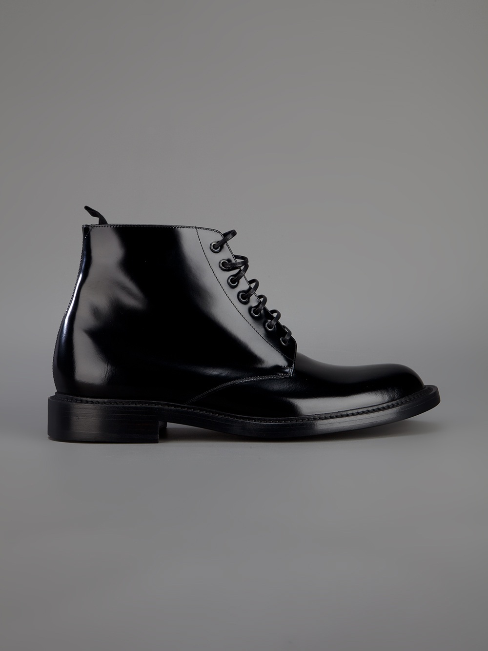 Saint Laurent Lace Up Army Boot In Black For Men Lyst