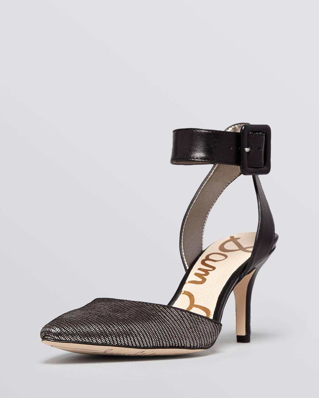 f65b5c594 Lyst - Sam Edelman Pointed Toe Dorsay Pumps Okala High Heel in Black