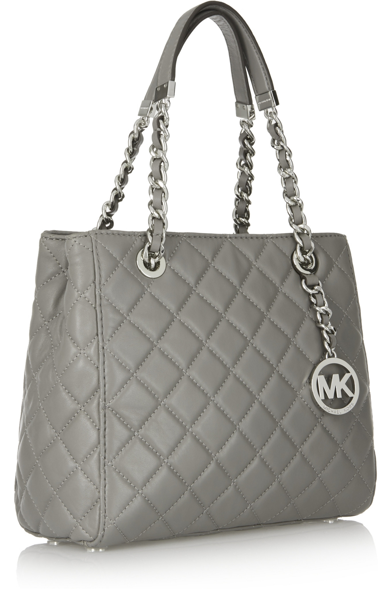 Lyst - Michael michael kors Susannah Small Quilted Leather Tote in ... : michael kors quilted bag - Adamdwight.com