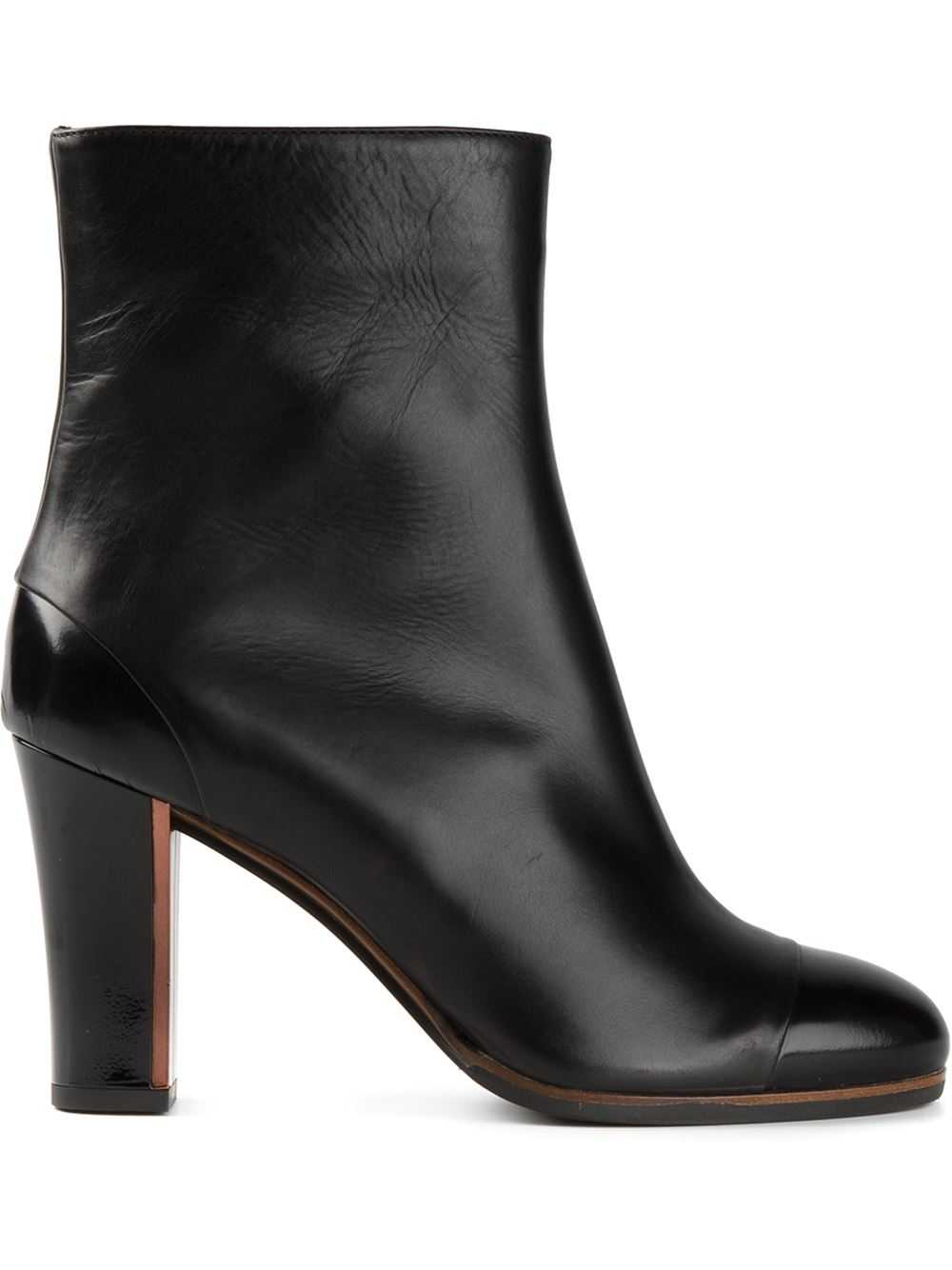 l autre chose high heel ankle boots in black lyst