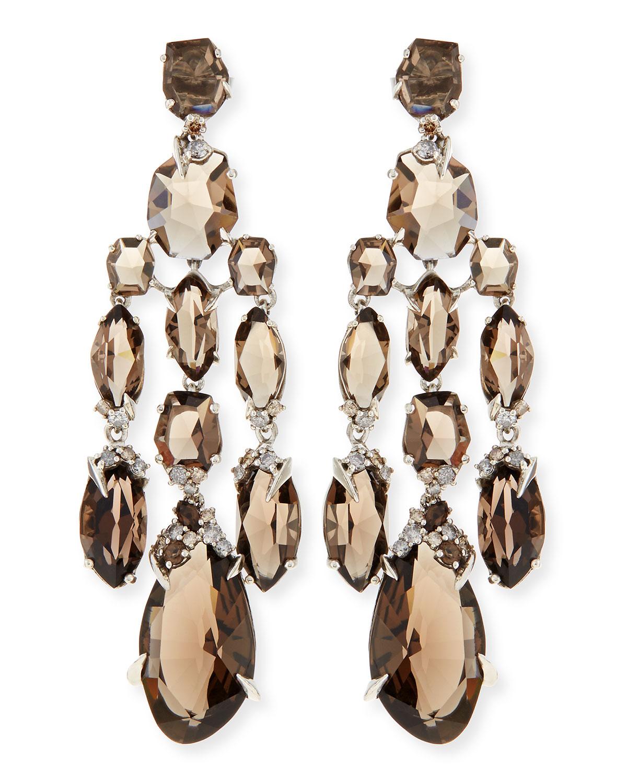 Lyst alexis bittar fine smoky quartz diamond chandelier gallery mozeypictures Gallery