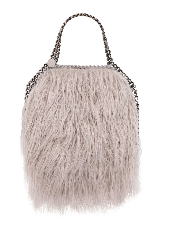 954d4cb475 Stella McCartney Mini 3chain Falabella Faux Curly Fur Bag in Pink - Lyst