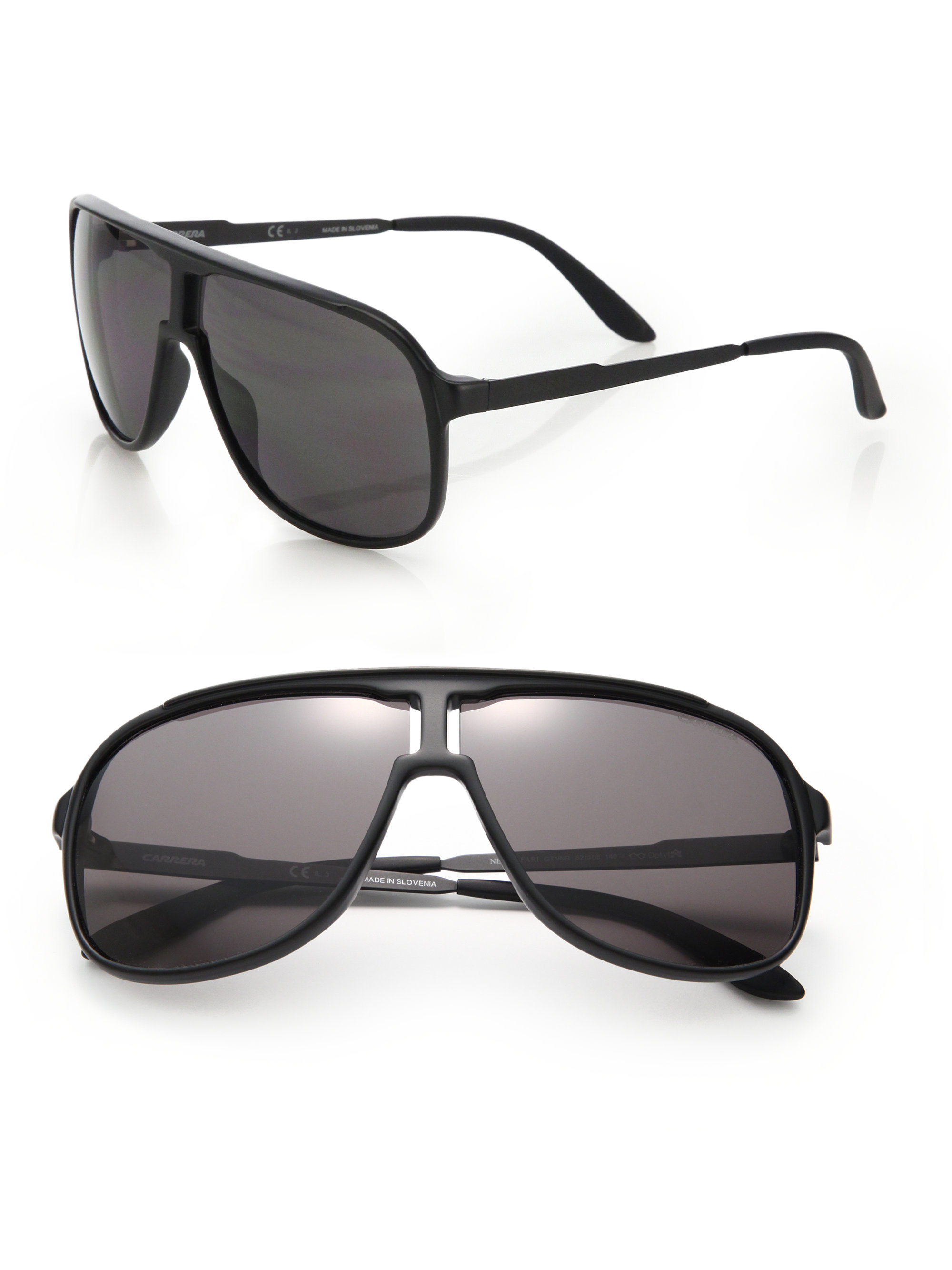 9b3d2ddcf8 Carrera New Safari 62mm Plastic Aviator Sunglasses in Black for Men ...
