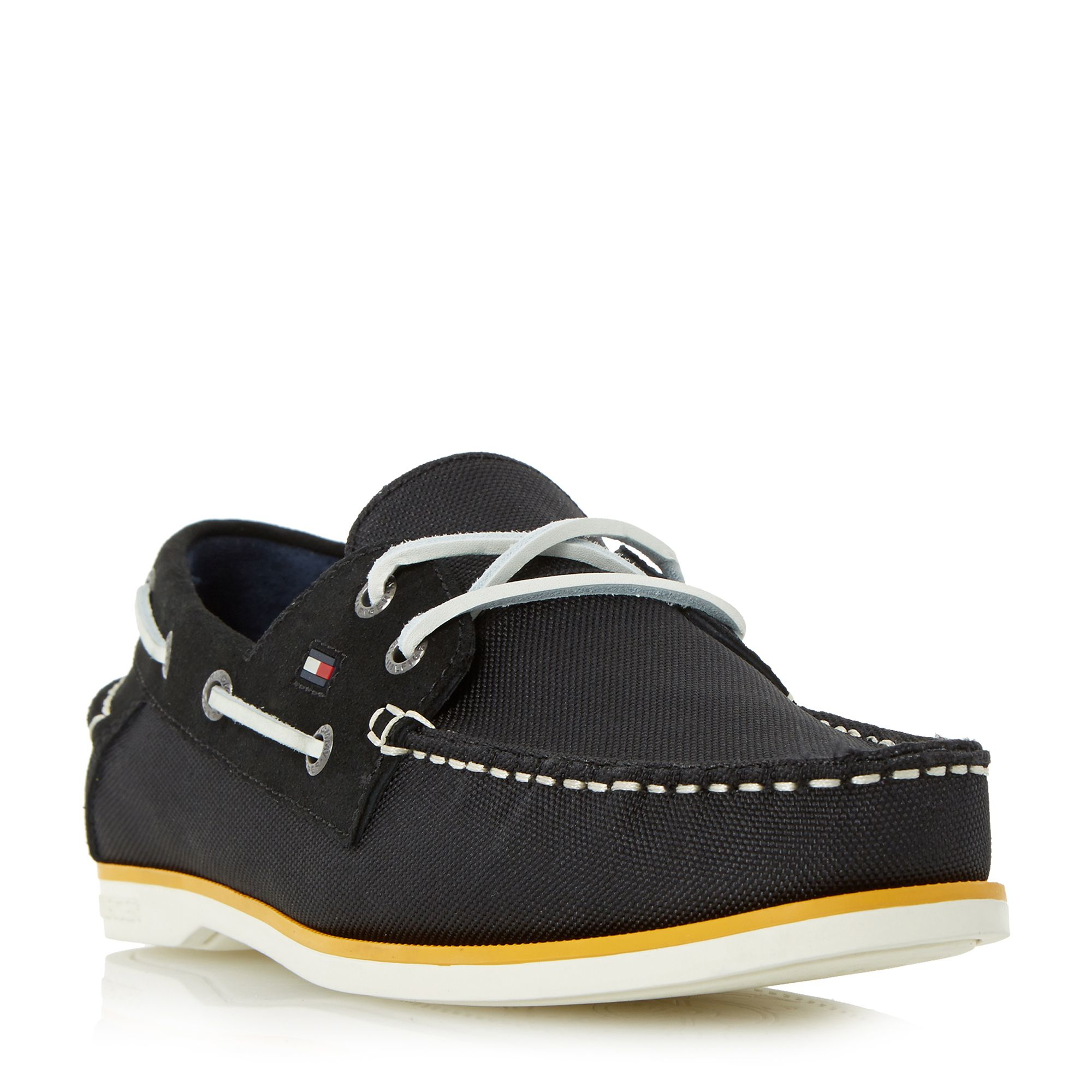 Tommy Hilfiger Deck 4d Mixed White Sole Boat Shoes In